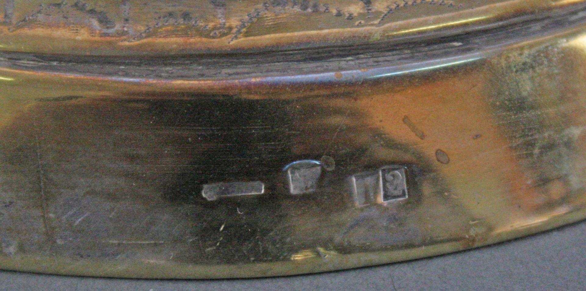 Kerzenhalter versilbert und vergoldet, 19. Jahrhundert - Bild 4 aus 5