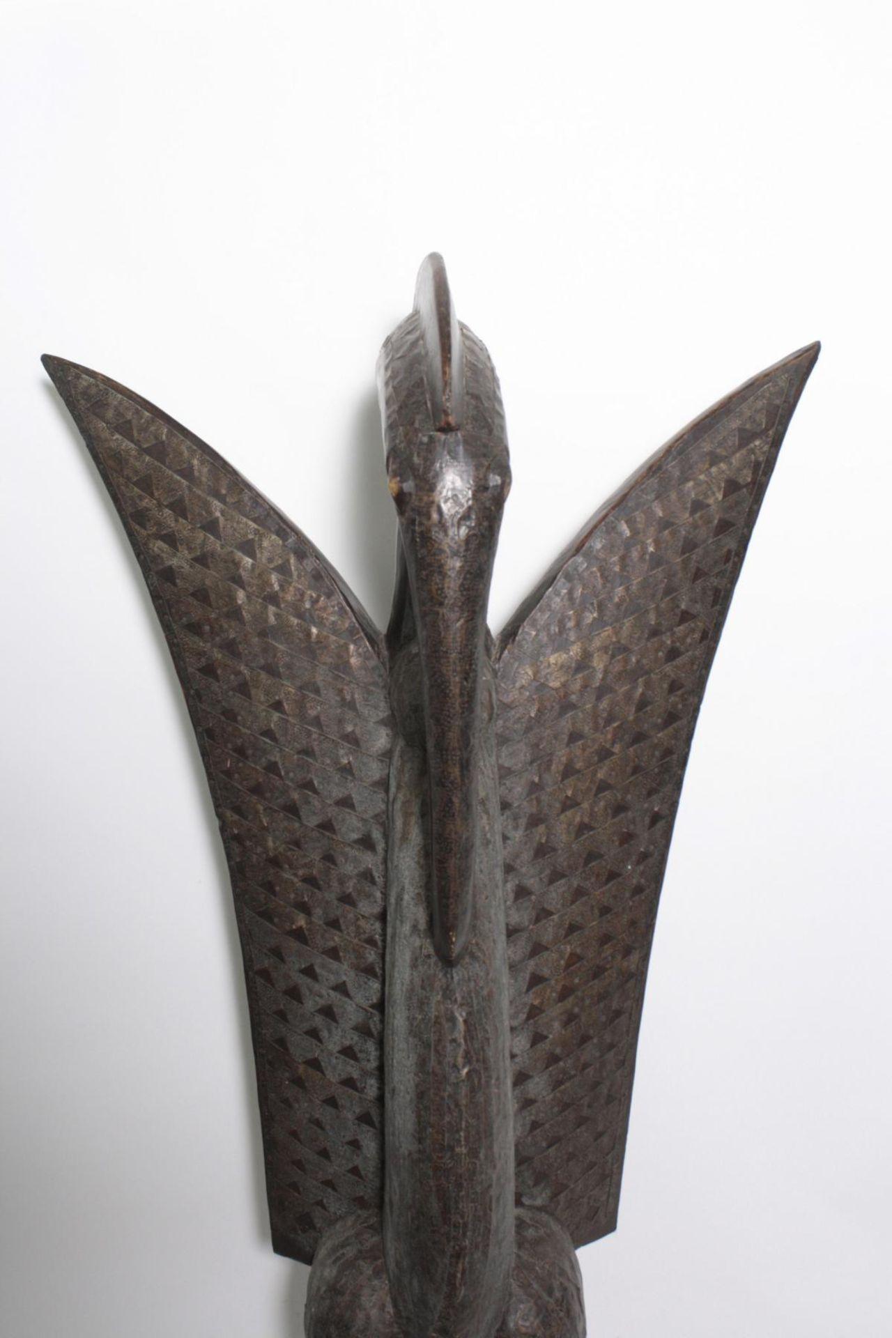 """Imposante Vogelfigur, """"Calao"""", Senufo, Elfenbeinküste, 1. Hälfte 20. Jh. - Bild 2 aus 5"""