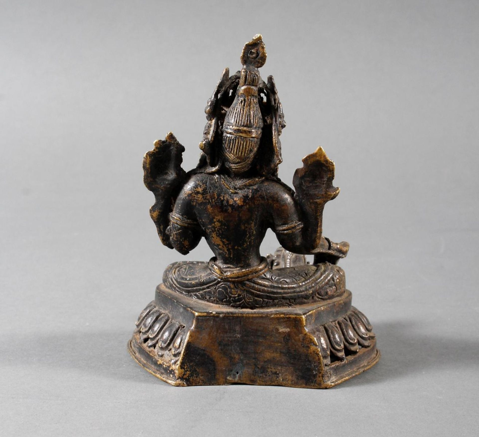 Bronze Buddha, Tara, Tibet, 18. / 19. Jahrhundert - Bild 3 aus 7