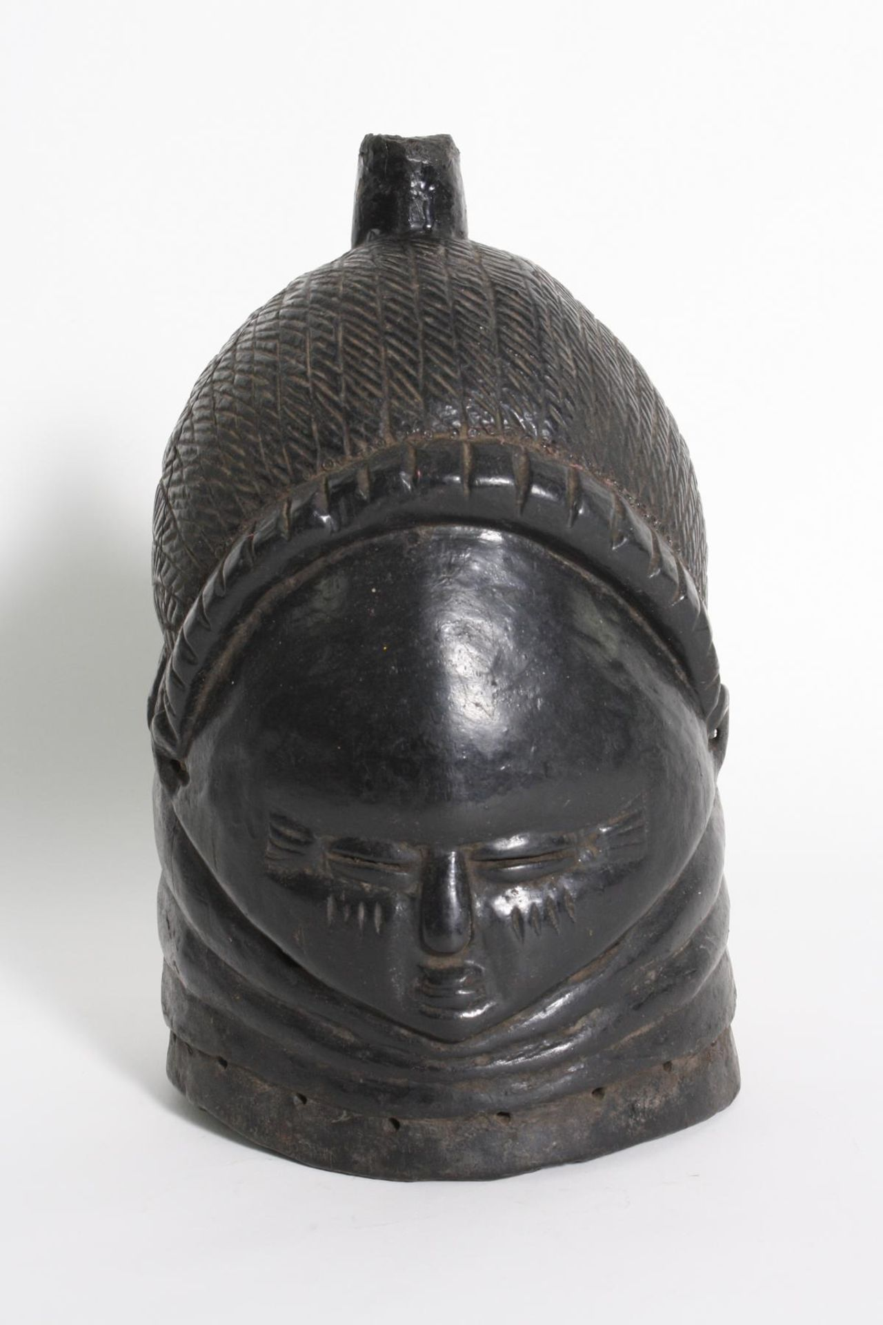 Sowei-Maske, Sandé-Gesellschaft, Mende, Sierra Leone, 1. Hälfte 20. Jh.