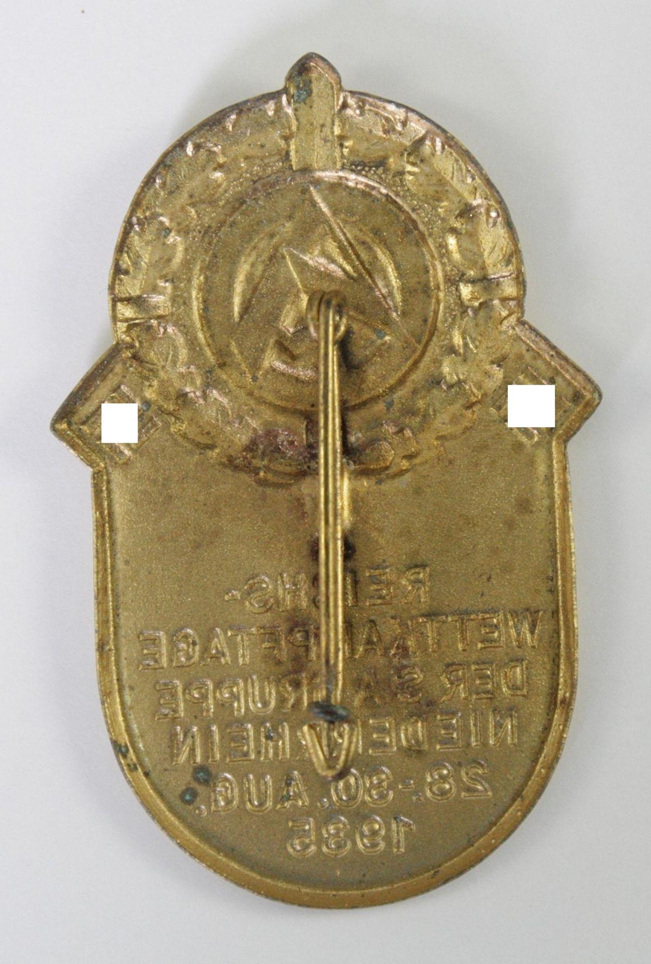 Abzeichen, Reichs-Wettkämpfe der SA Gruppe Niederrhein 1935 - Bild 2 aus 2