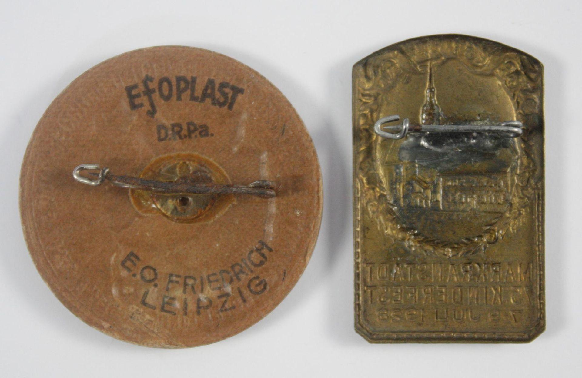 2 Abzeichen: Markränstädter Kinder- und Heimatfest 1928 und 1938 - Bild 2 aus 2