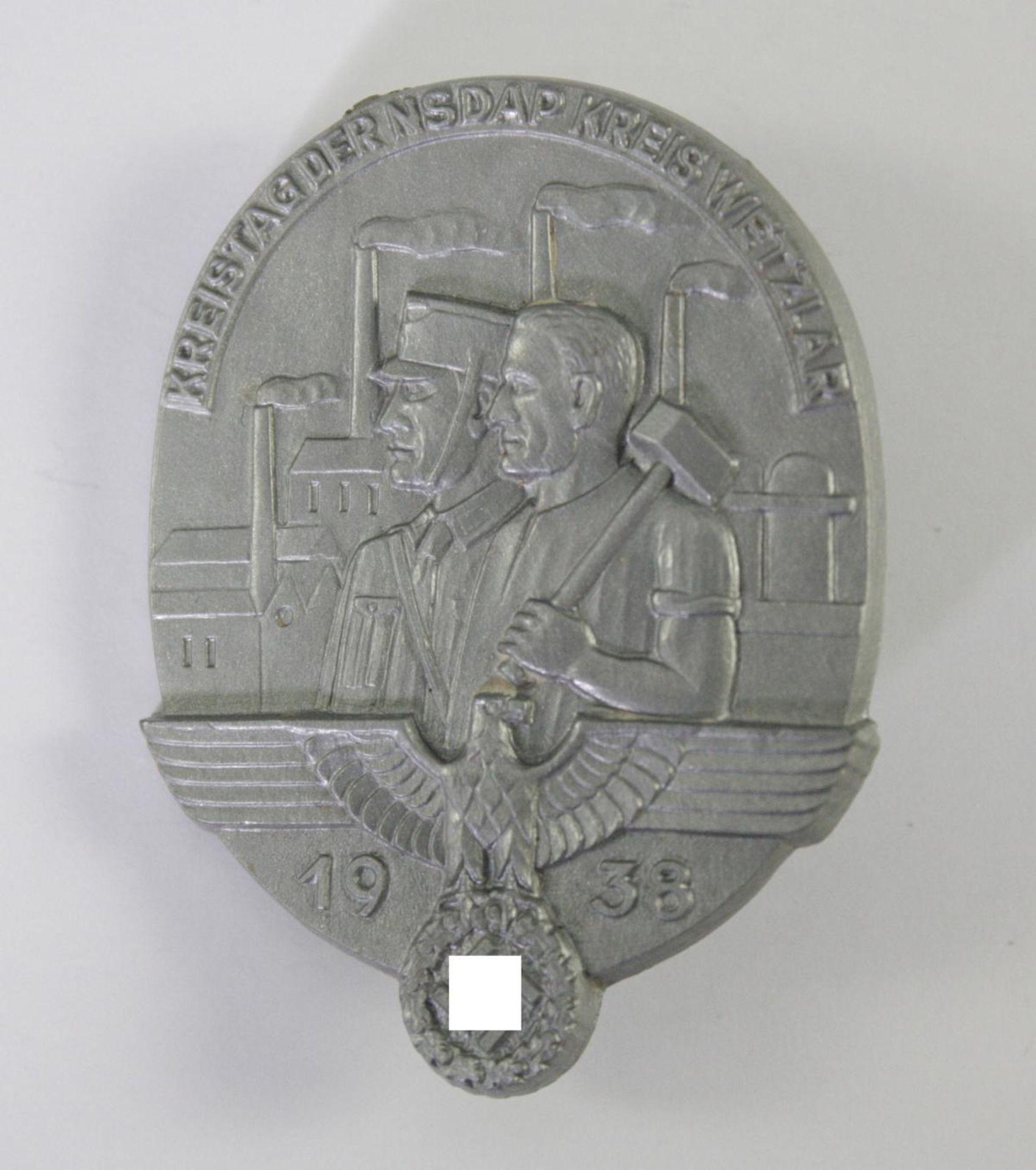 Abzeichen, Kreistag der NSDAP Kreis Wetzlar 1938