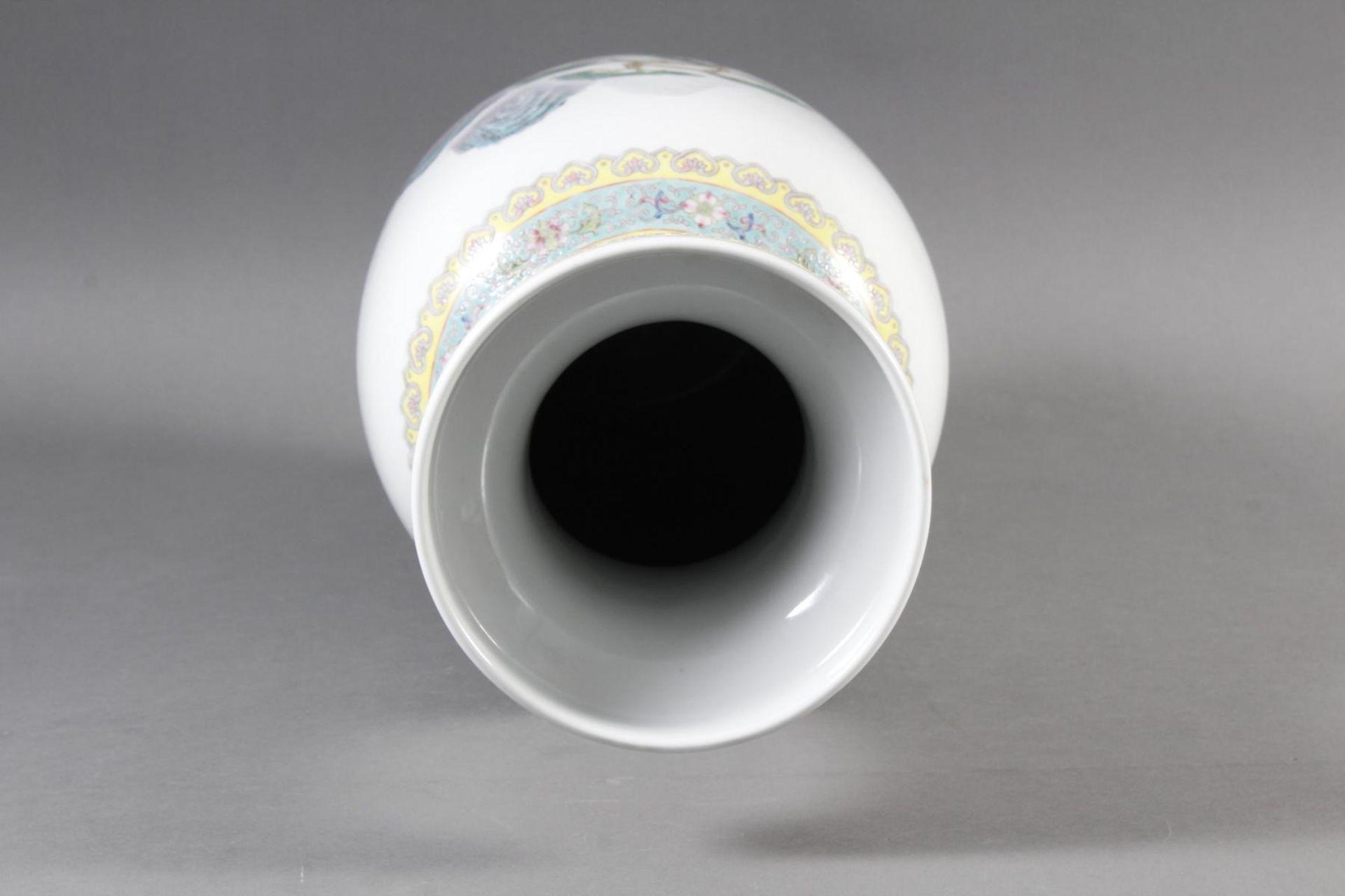 Porzellan Bodenvase, China 20. Jahrhundert - Bild 10 aus 12