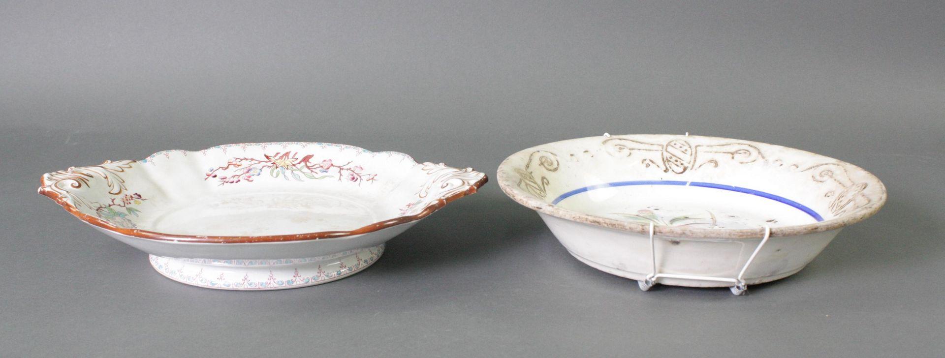 2 Keramikschalen 19. Jahrhundert - Bild 2 aus 3