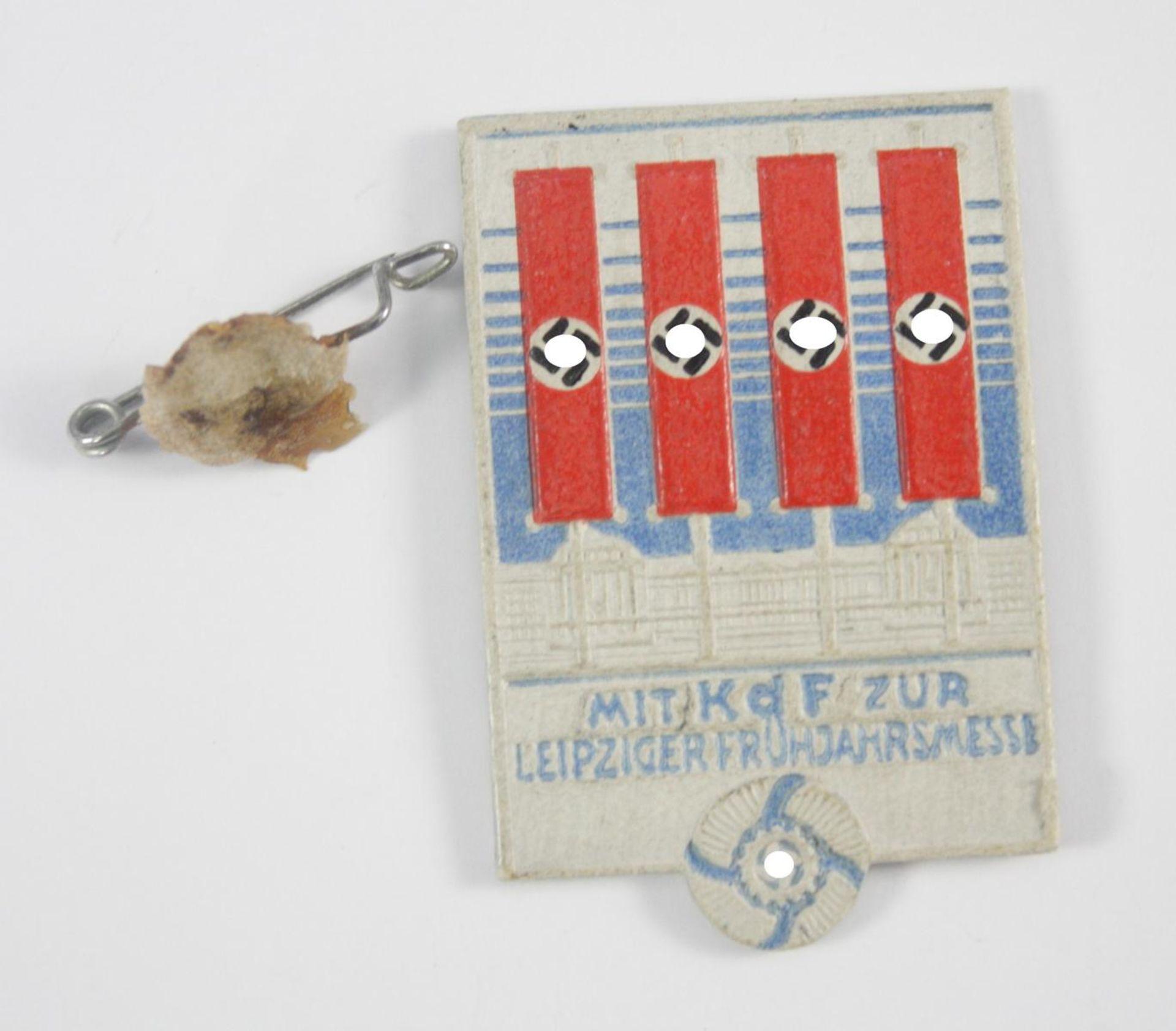 Abzeichen: Mit KdF zur Leipziger Frühjahrsmesse