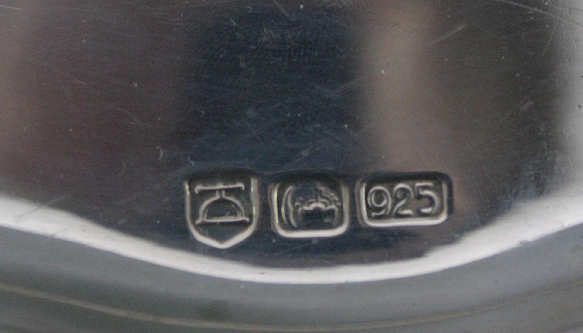 Ovale Silberplatte, 925 Silber - Bild 2 aus 4