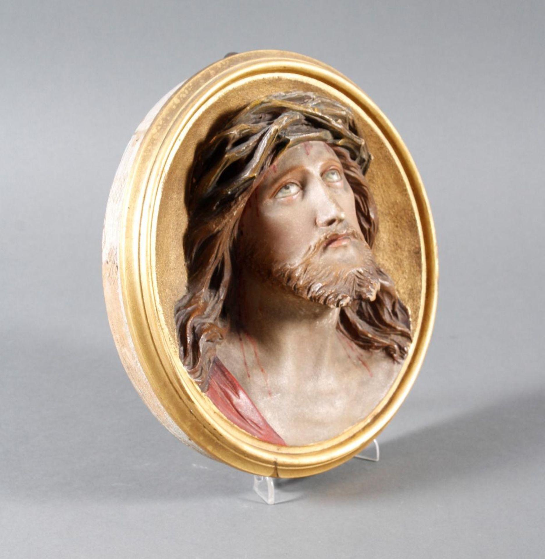 Holz Wandrelief, Christus, Süddeutsch um 1880 - Bild 3 aus 6