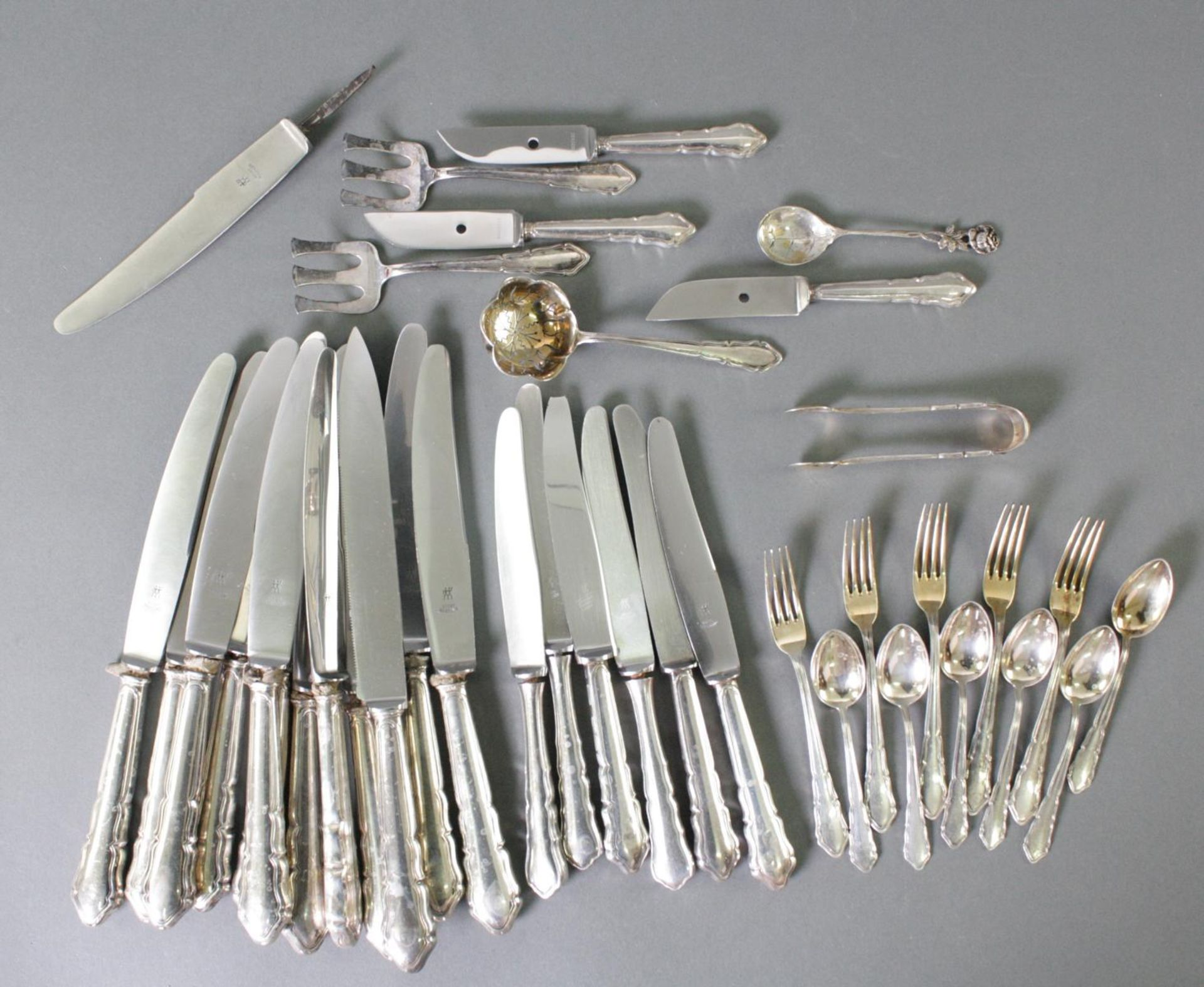 Konvolut Silberbesteck, 800er Silber