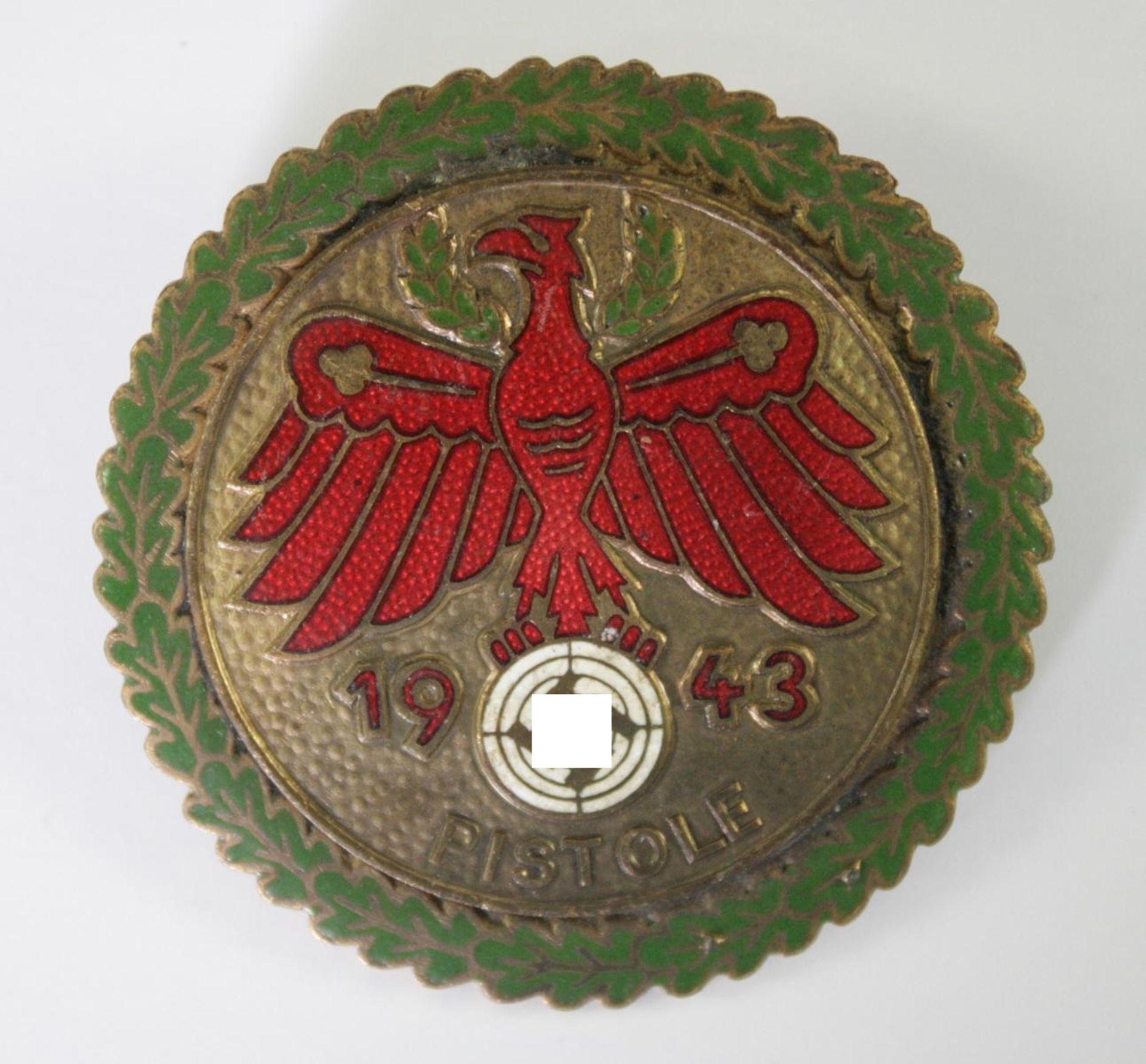 Standschützen, Schieß-Abzeichen Tirol 1943 für Pistole
