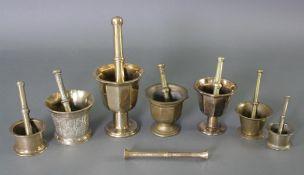 Sammlung orientalische Mörser 19./20. Jahrhundert