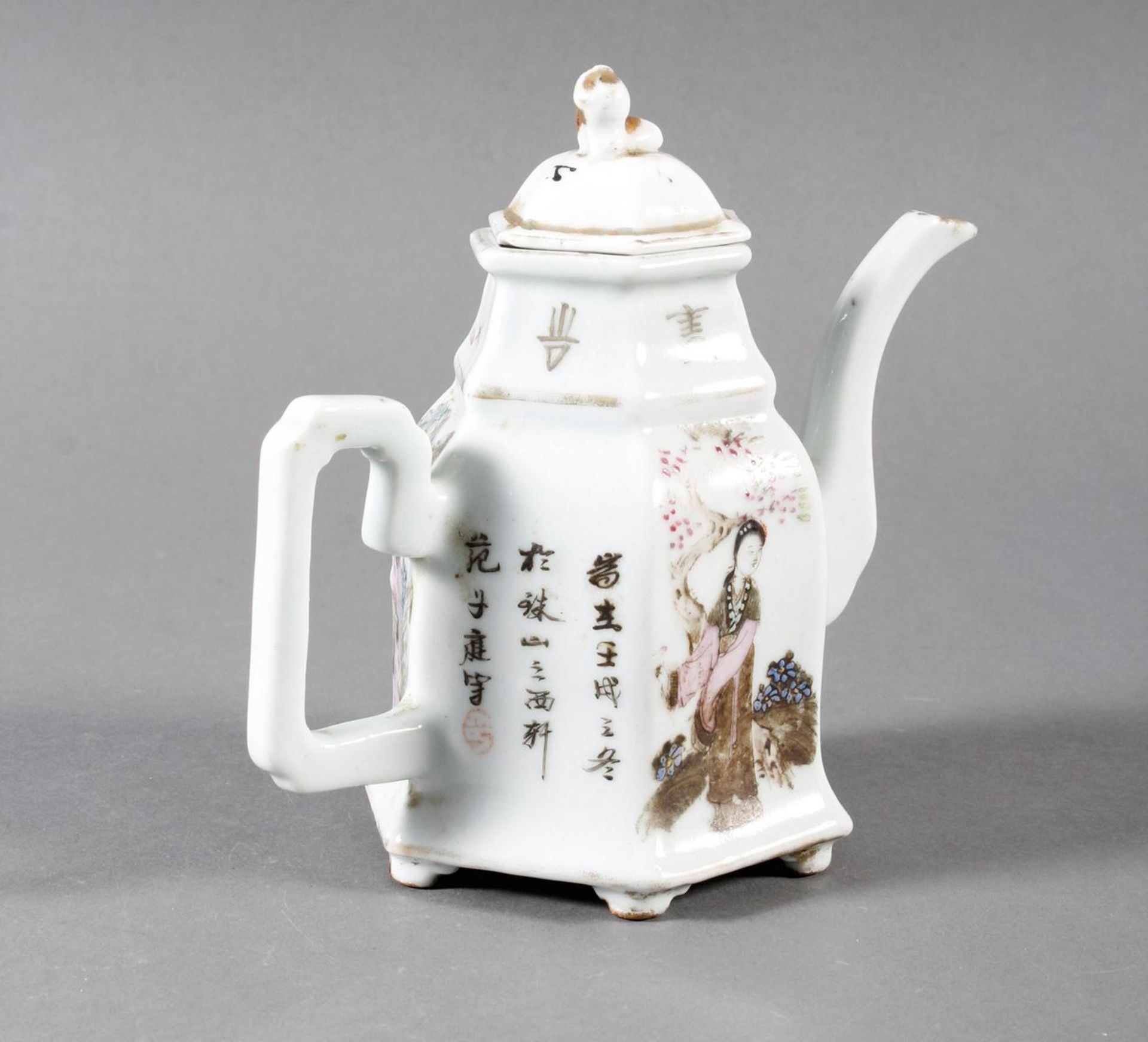 Porzellan Teekann, China, 19. Jahrhundert - Bild 6 aus 15