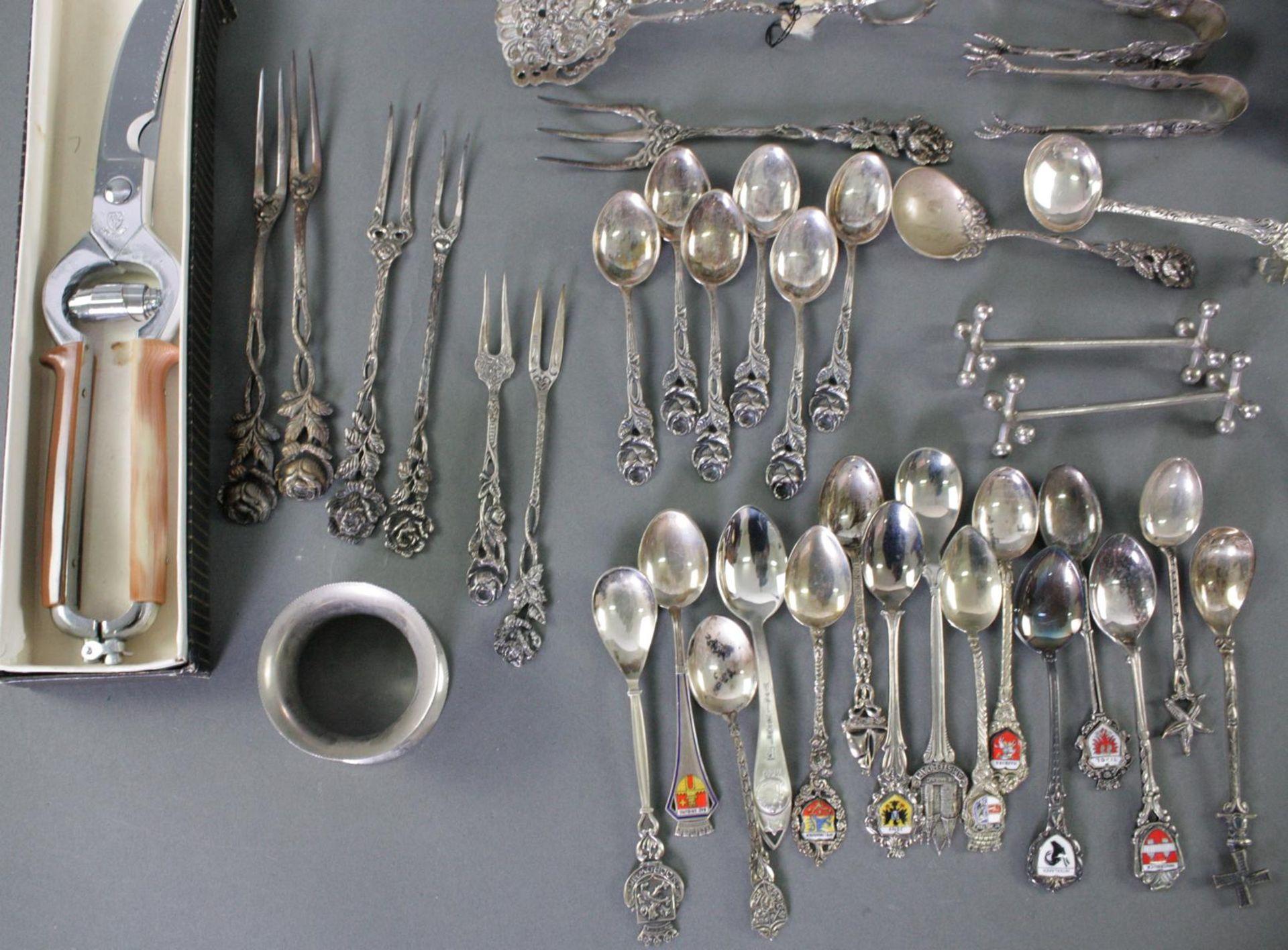 Silber und versilbertes Konvolut - Bild 3 aus 4