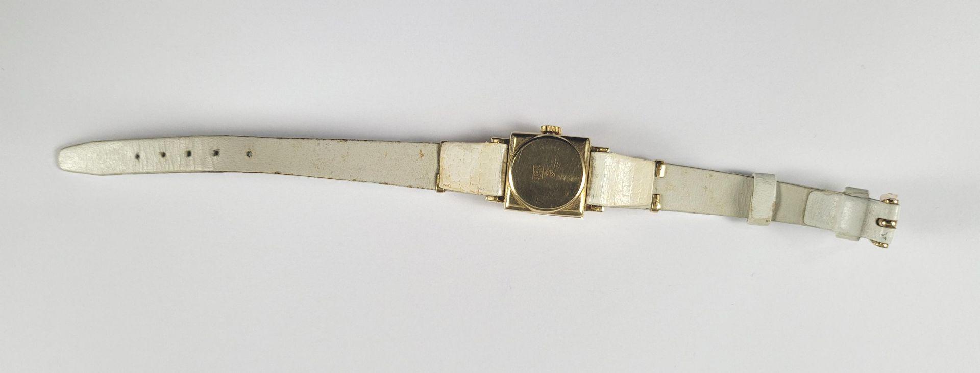 Goldene Roxy Damenarmbanduhr, 14 Karat Gelbgold - Bild 3 aus 4