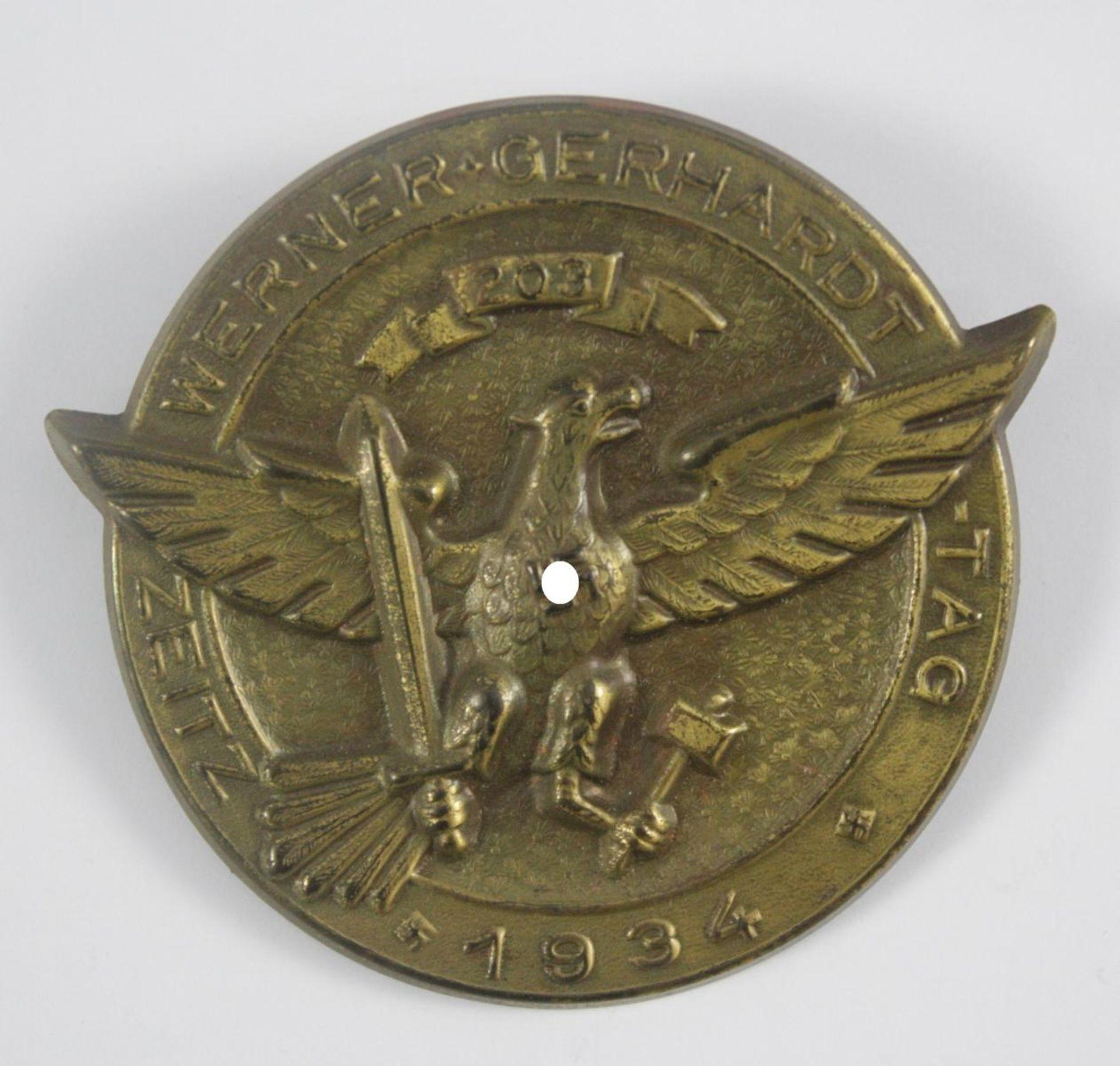 Erinnerungsabzeichen: Werner-Gerhardt-Tag Zeitz 1934