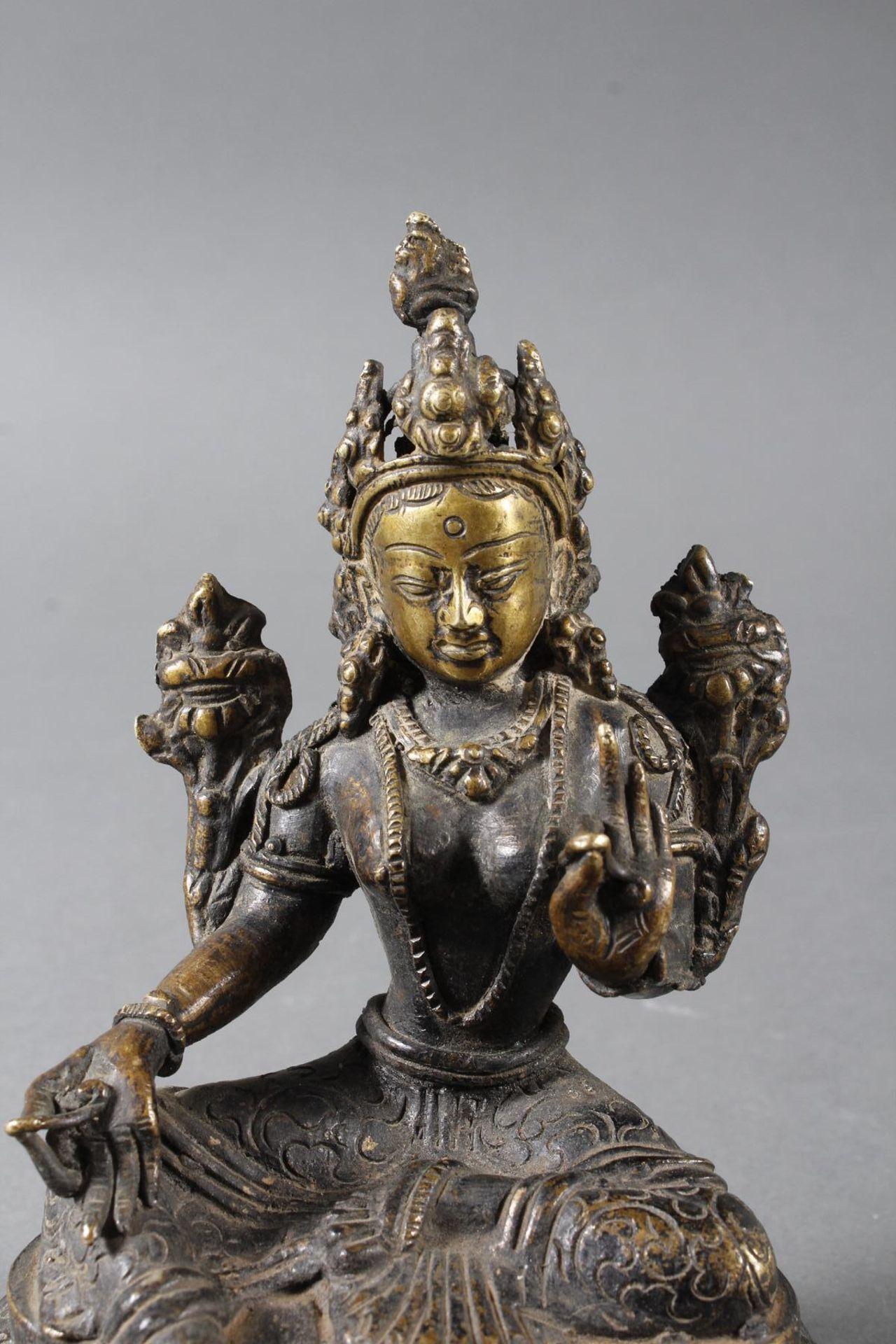 Bronze Buddha, Tara, Tibet, 18. / 19. Jahrhundert - Bild 5 aus 7