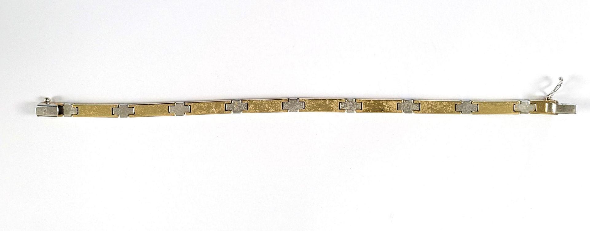Damenarmband, 14 Karat Gelb- und Weißgold - Bild 2 aus 3