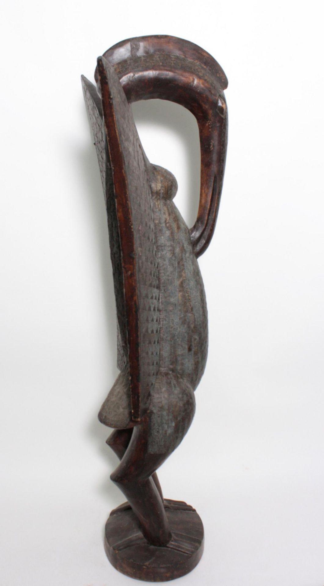 """Imposante Vogelfigur, """"Calao"""", Senufo, Elfenbeinküste, 1. Hälfte 20. Jh. - Bild 3 aus 5"""