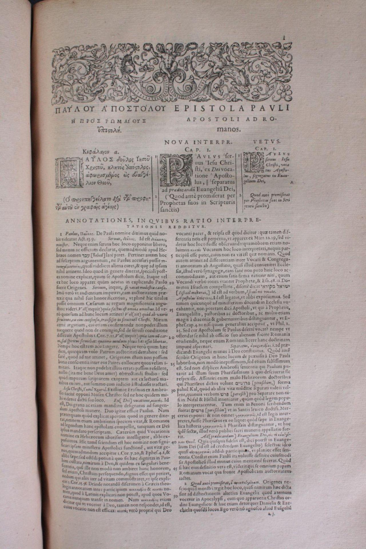 Griechische-Lateinische Bibel, Novum Testamentum 1582 - Bild 12 aus 23