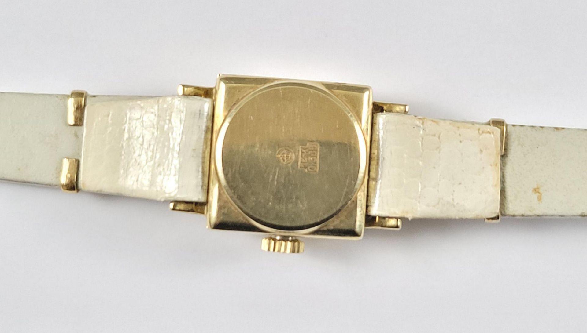 Goldene Roxy Damenarmbanduhr, 14 Karat Gelbgold - Bild 4 aus 4
