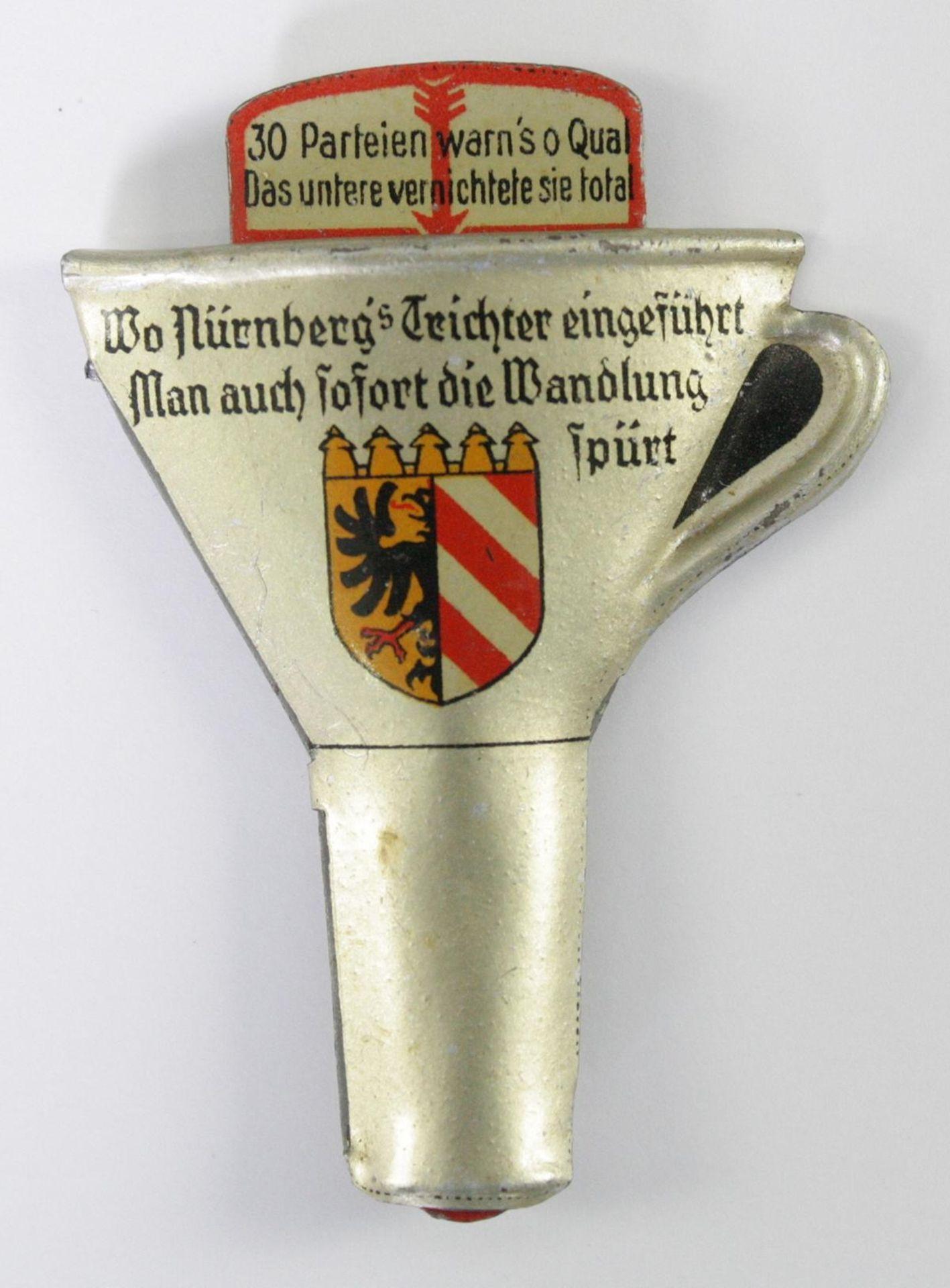 Sympathieabzeichen, Nürnbergs Trichter - Bild 2 aus 3