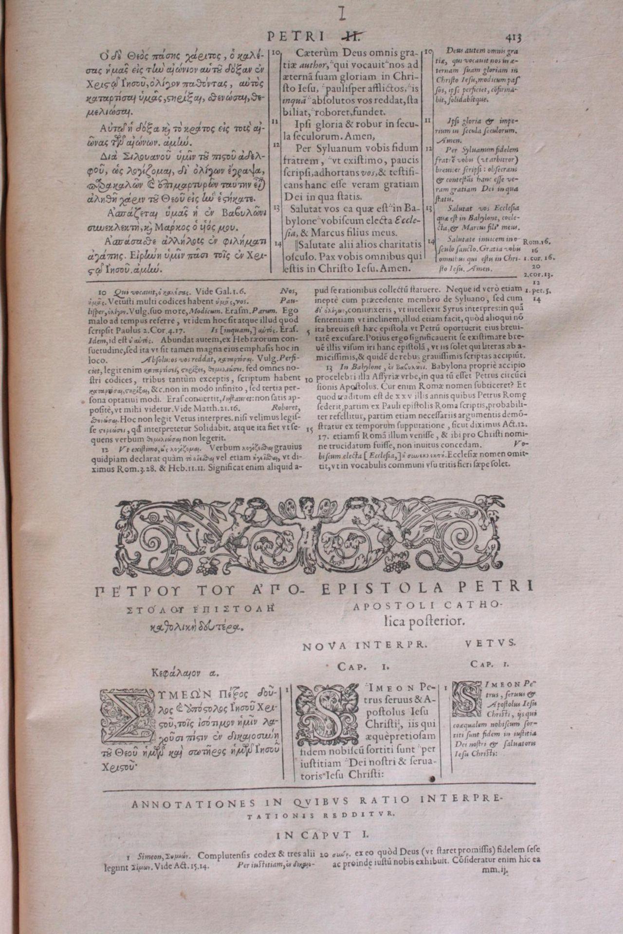 Griechische-Lateinische Bibel, Novum Testamentum 1582 - Bild 17 aus 23