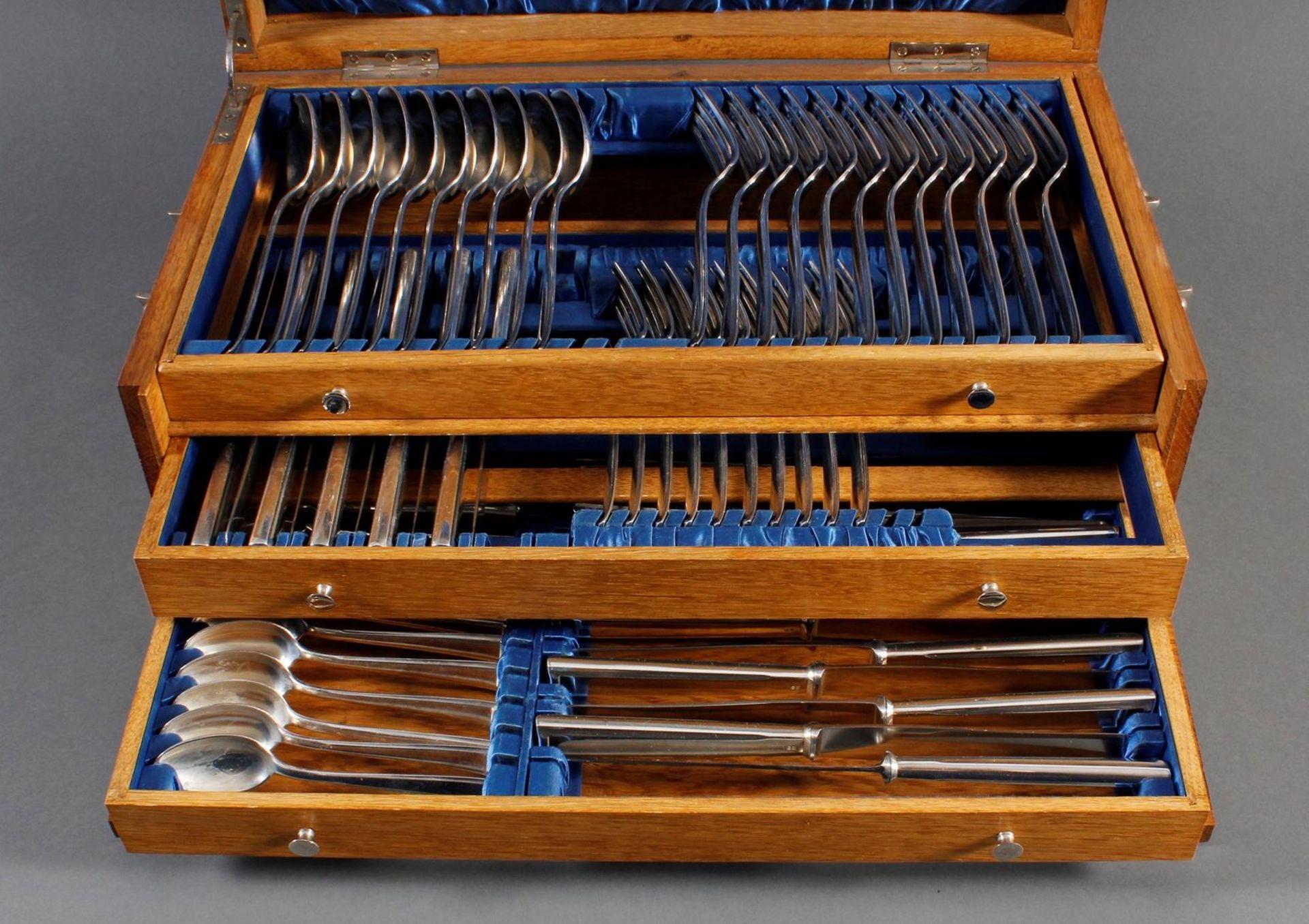 Bruckmann Essbesteck für 12 Personen im Besteckkasten, 90er Auflage - Bild 2 aus 8