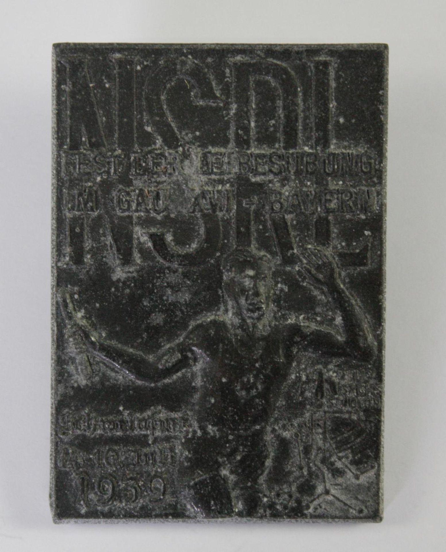 Abzeichen: NSRL. Fest der Leibesübung im Gau XVI - Bayern. Schweinfurt 1939