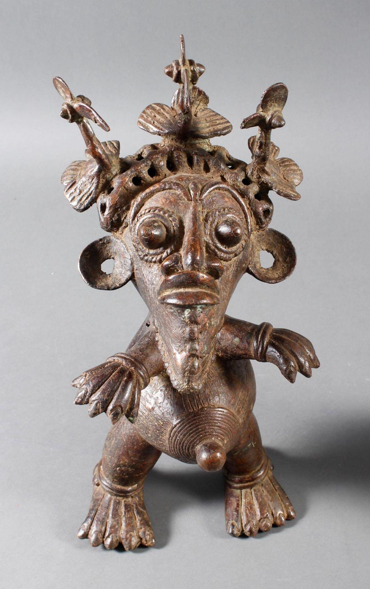 Paar Bronze-Hofzwergenpaar, Bamileke / Kamerun - Bild 13 aus 14