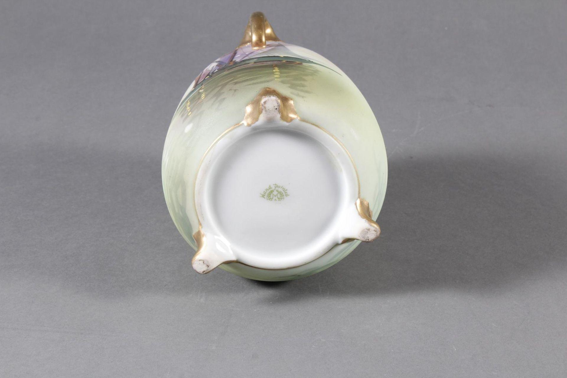 Dreihenkel-Porzellanvase, Nippon Porzellan um 1910 - Bild 8 aus 9