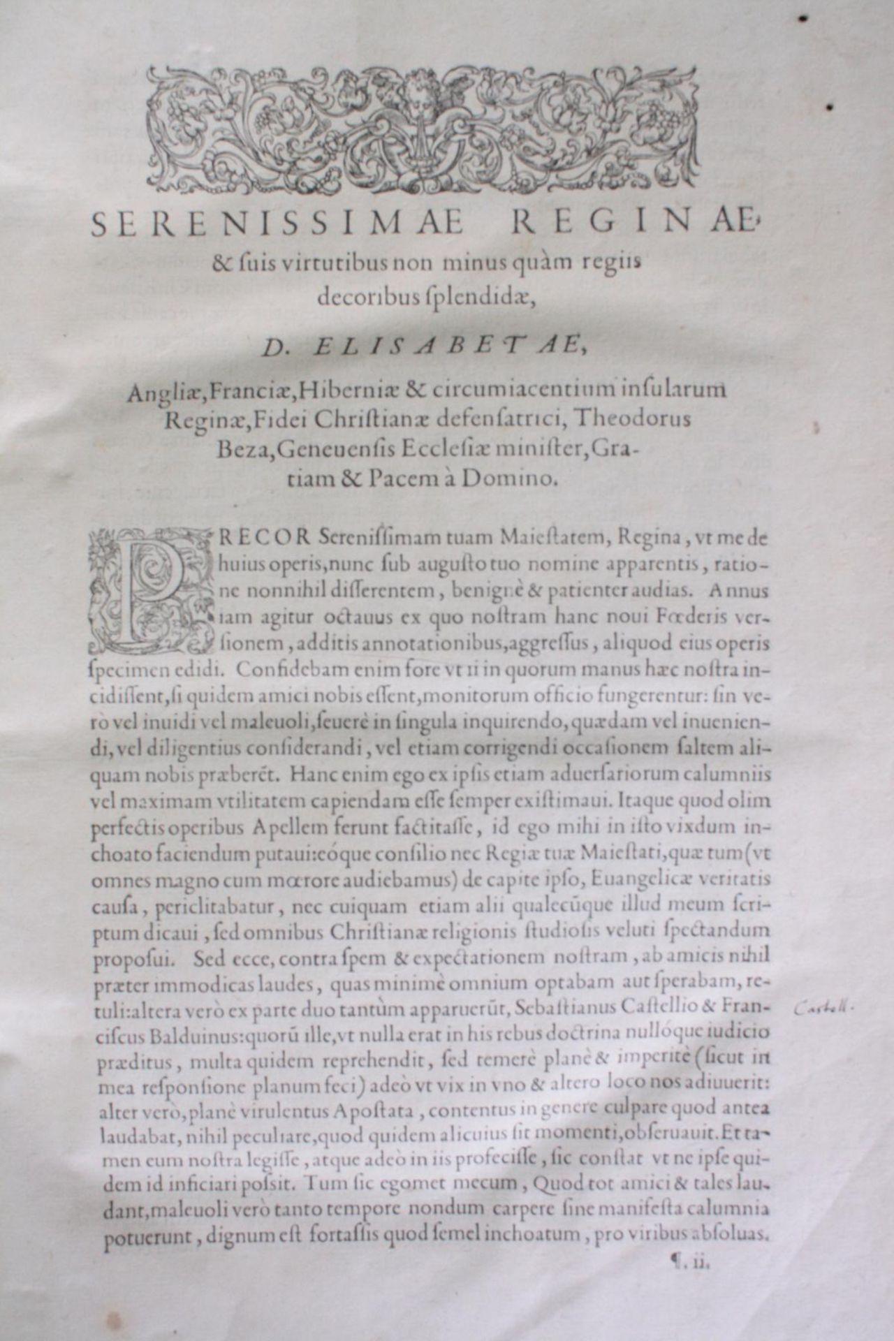 Griechische-Lateinische Bibel, Novum Testamentum 1582 - Bild 6 aus 23