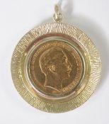 Anhänger mit 20 Mark Münze 1899 A