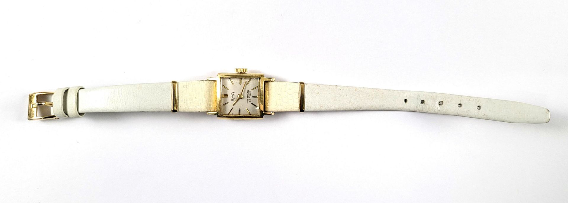 Goldene Roxy Damenarmbanduhr, 14 Karat Gelbgold