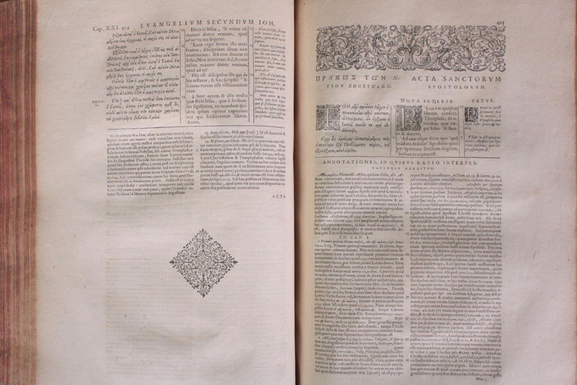 Griechische-Lateinische Bibel, Novum Testamentum 1582 - Bild 9 aus 23