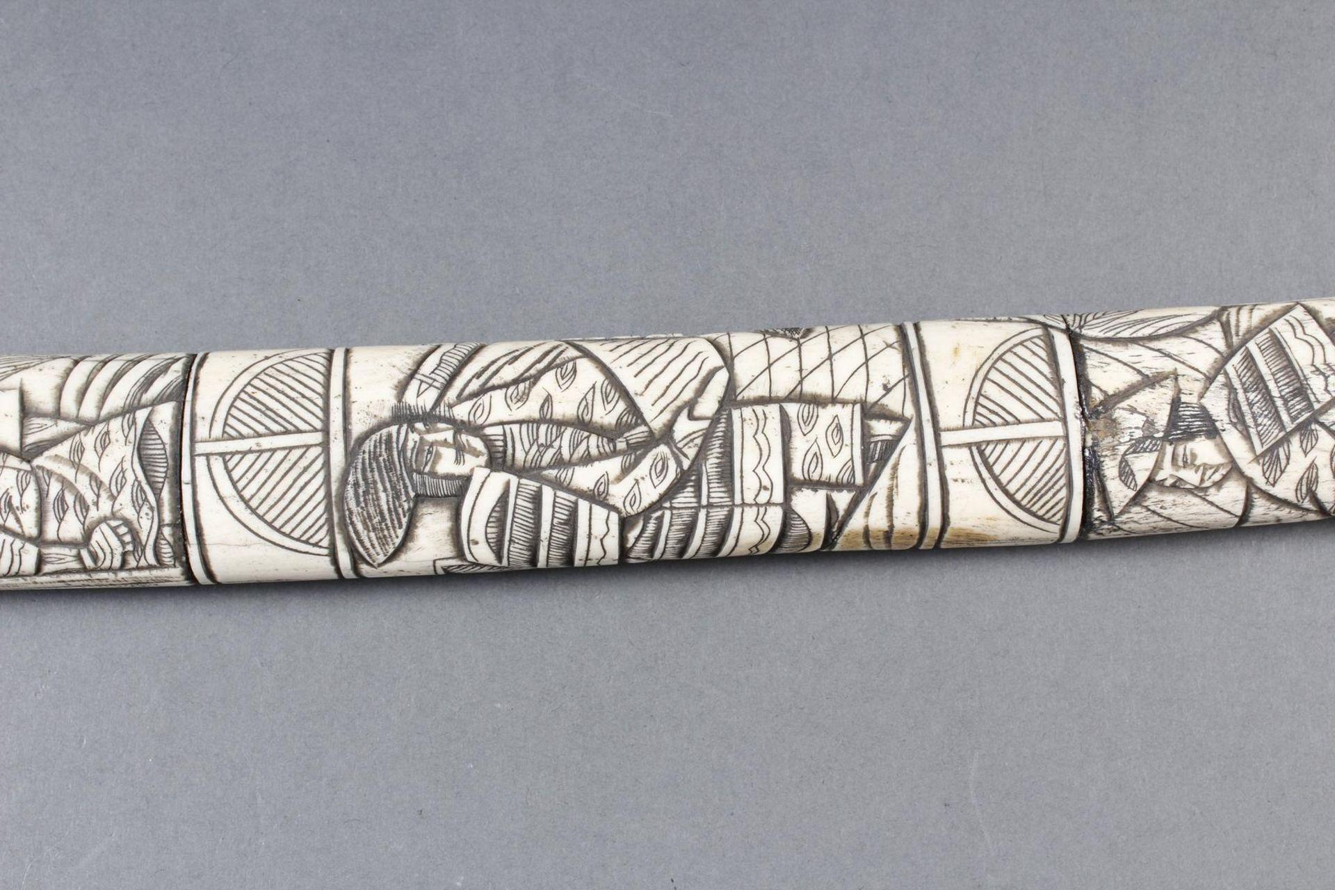 Kurzschwert aus Hirschhorn, Japan Meiji Periode - Bild 11 aus 12