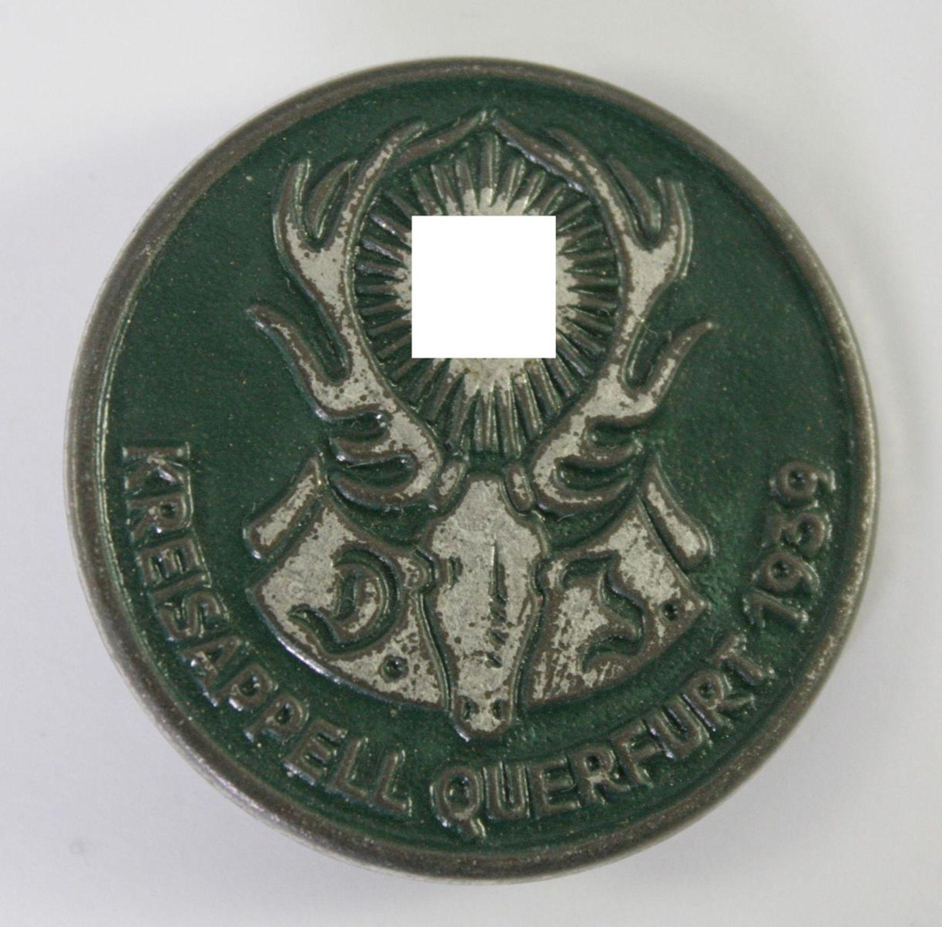 Abzeichen: Deutscher Jägerbund (DJB) Kreisappell Querfurt 1939