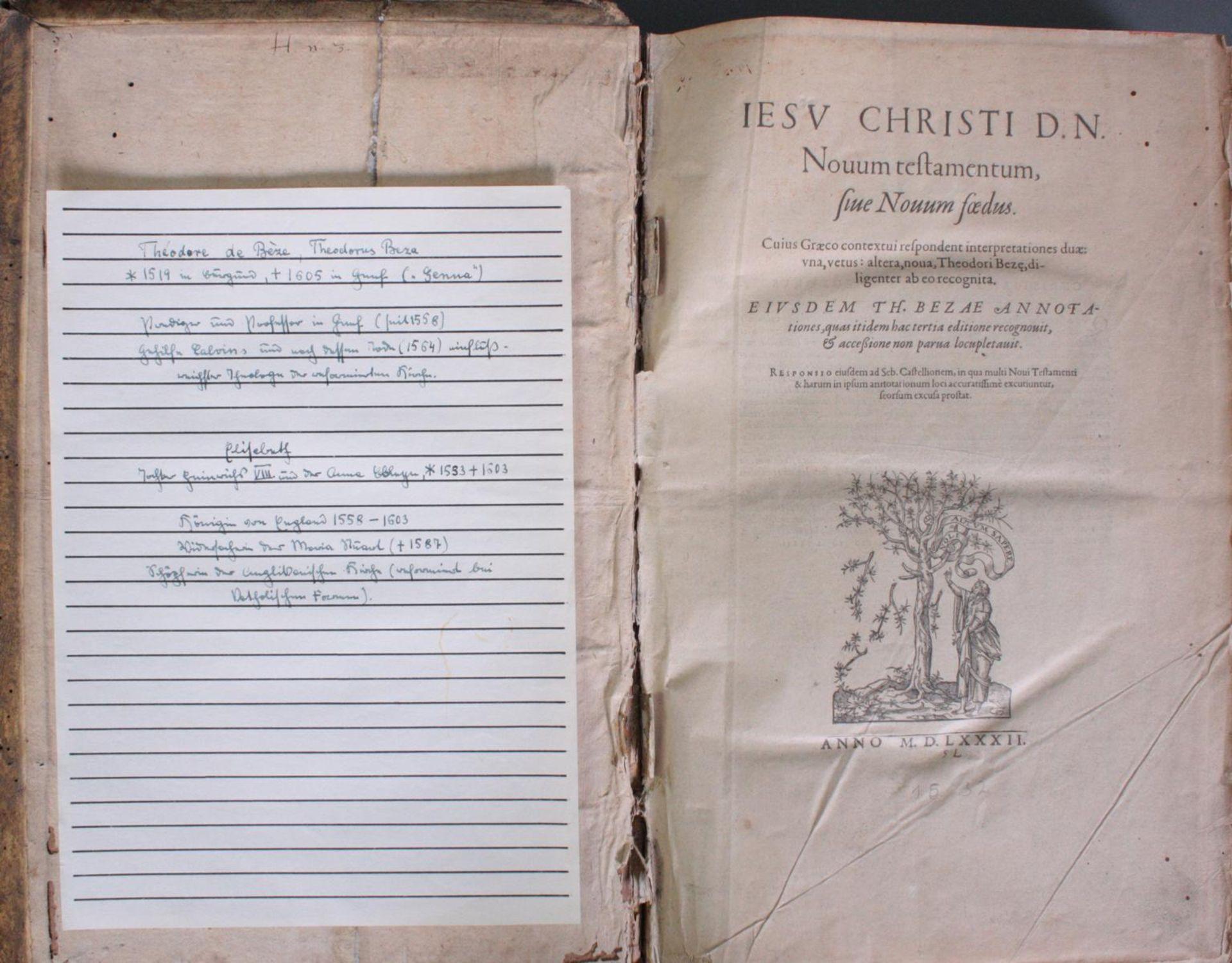 Griechische-Lateinische Bibel, Novum Testamentum 1582 - Bild 2 aus 23