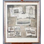 Radierung, Großes-Atelier-Stilleben, Schinkmann 1979