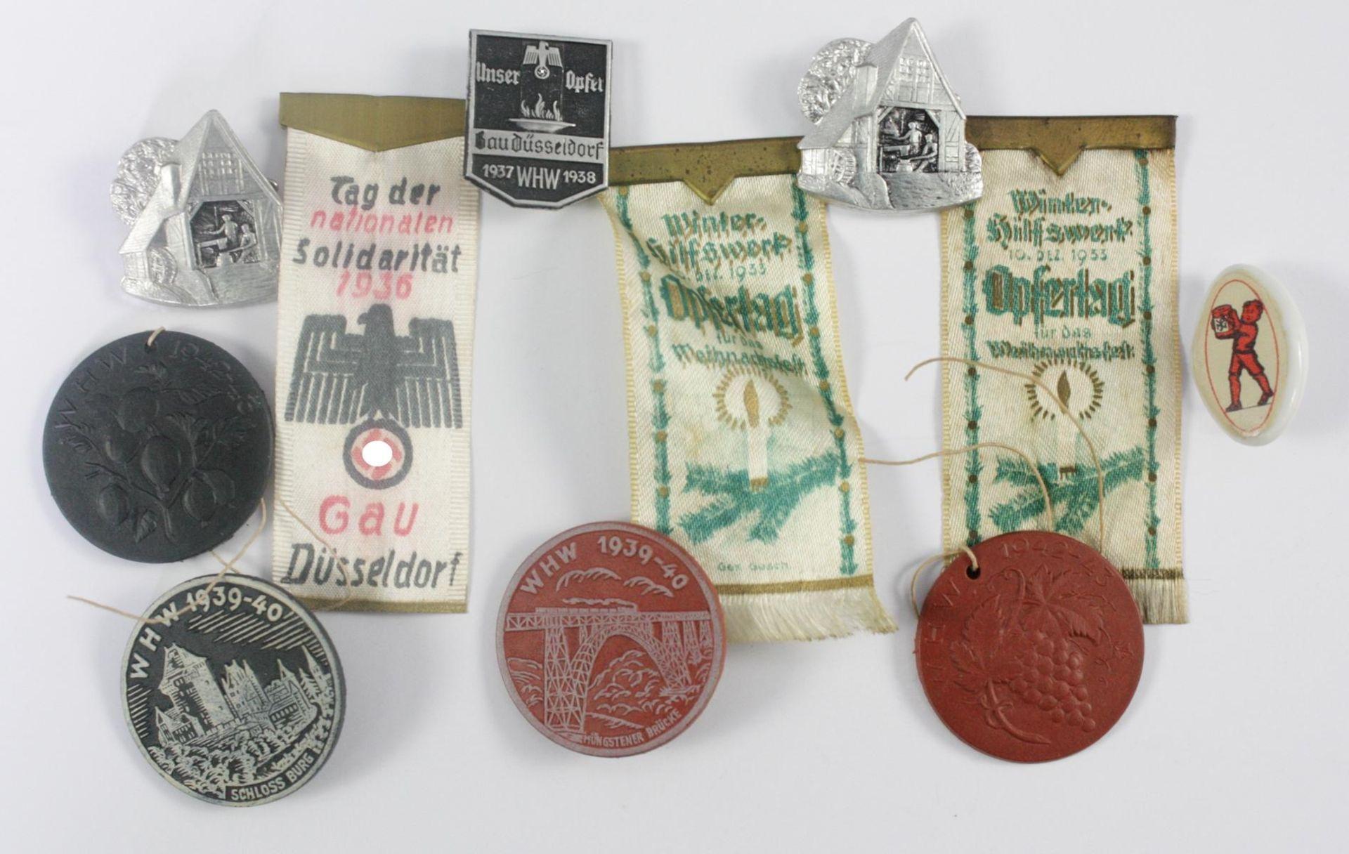 WHW-Spendenbelege Gau Düsseldorf