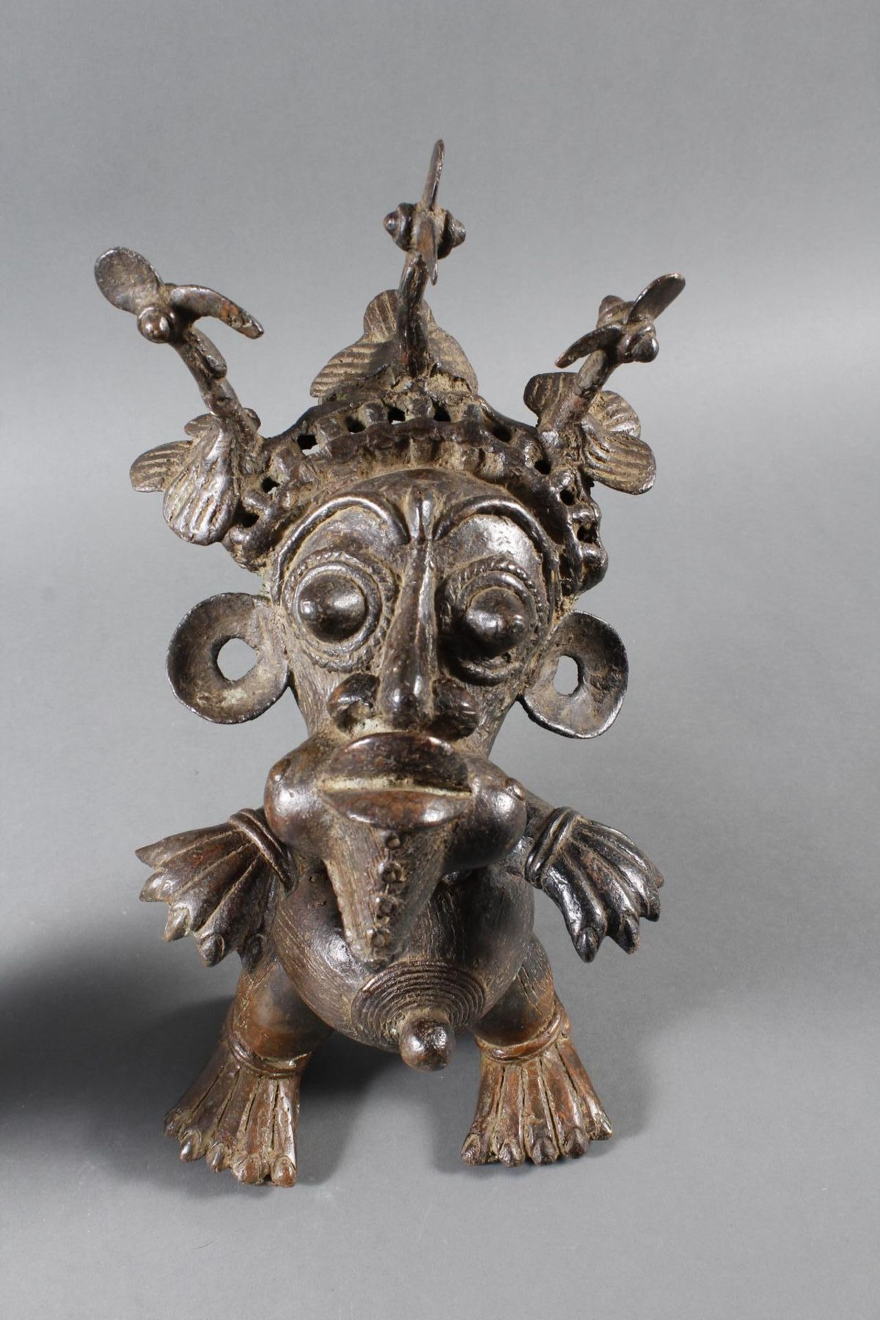 Paar Bronze-Hofzwergenpaar, Bamileke / Kamerun - Bild 3 aus 14