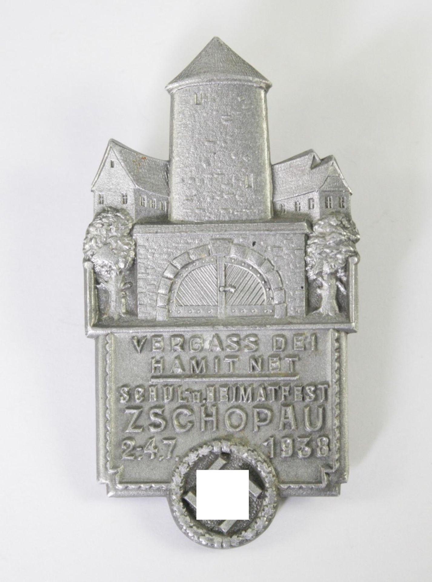 Tagungsabzeichen, Schul- und Heimatfest Zschopau, 2.-4.7.1938