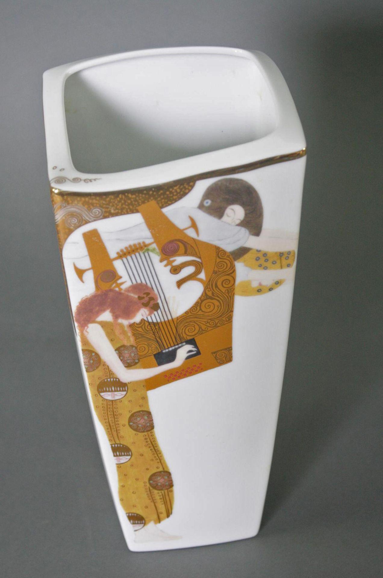 Zwei Goebel Artis Orbis Gustav Klimt Vasen. Porzellan und Glas - Bild 3 aus 7