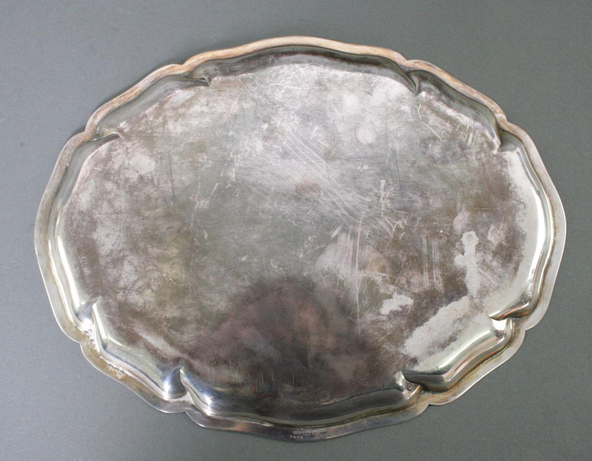 Ovale Silberplatte, 925 Silber - Bild 3 aus 4
