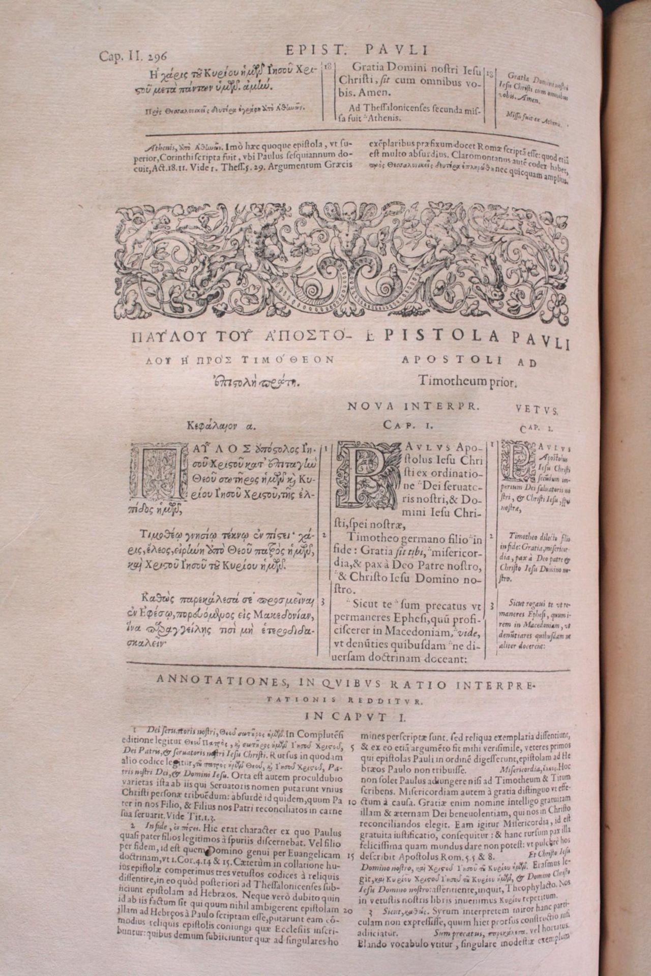 Griechische-Lateinische Bibel, Novum Testamentum 1582 - Bild 14 aus 23