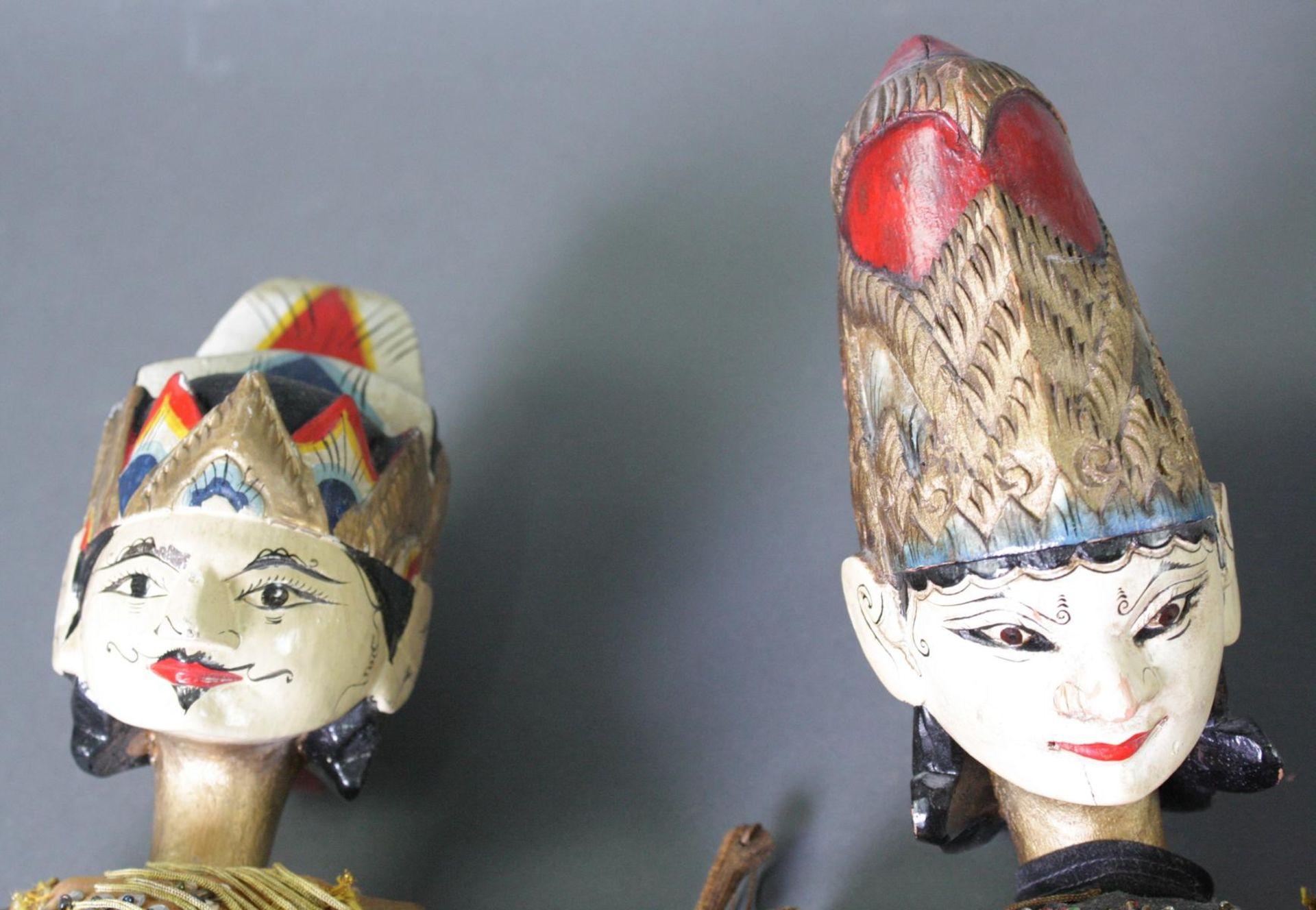 Konvolut indonesische Stabpuppen, Wayang-Golek - Bild 2 aus 6