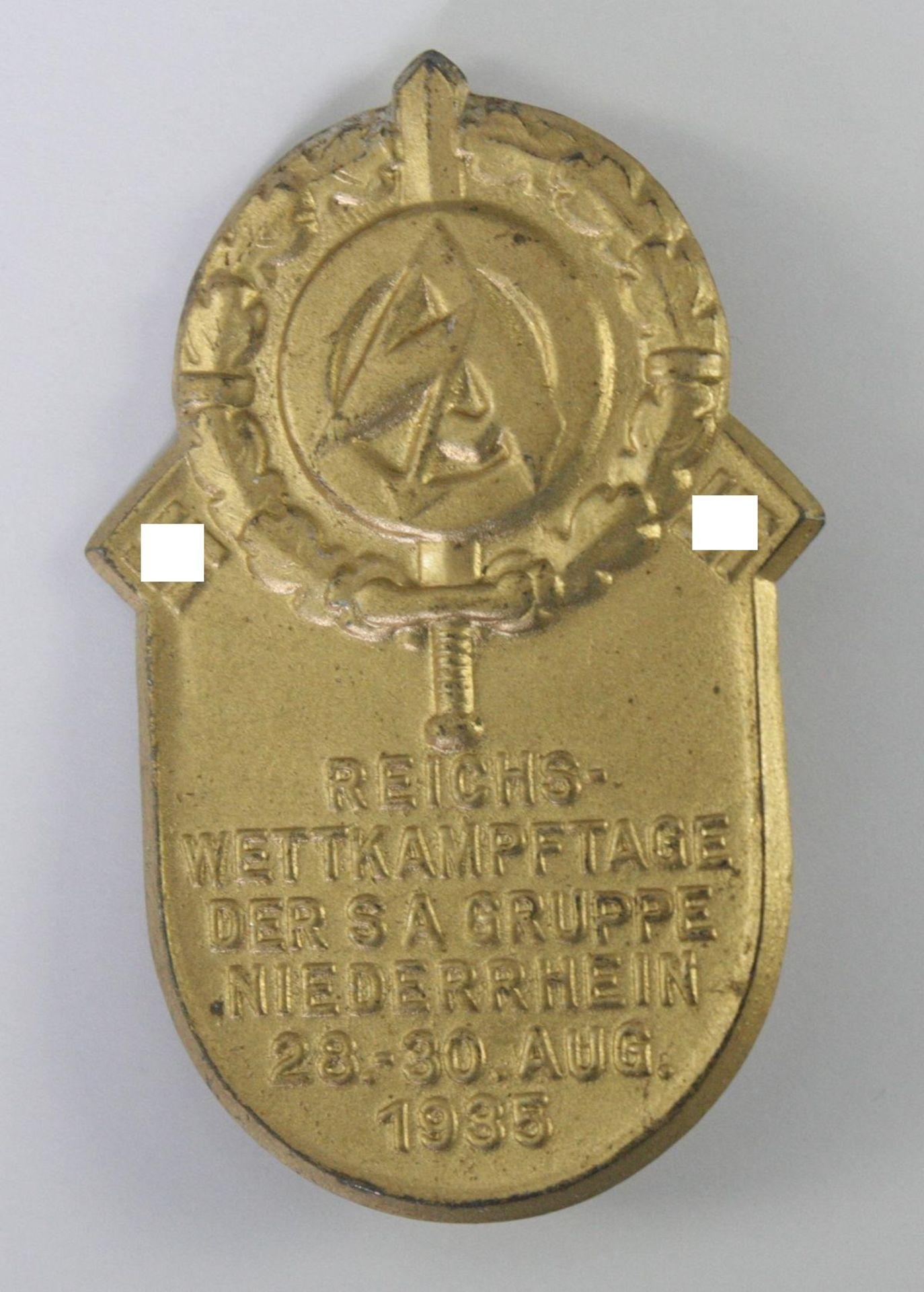 Abzeichen, Reichs-Wettkämpfe der SA Gruppe Niederrhein 1935
