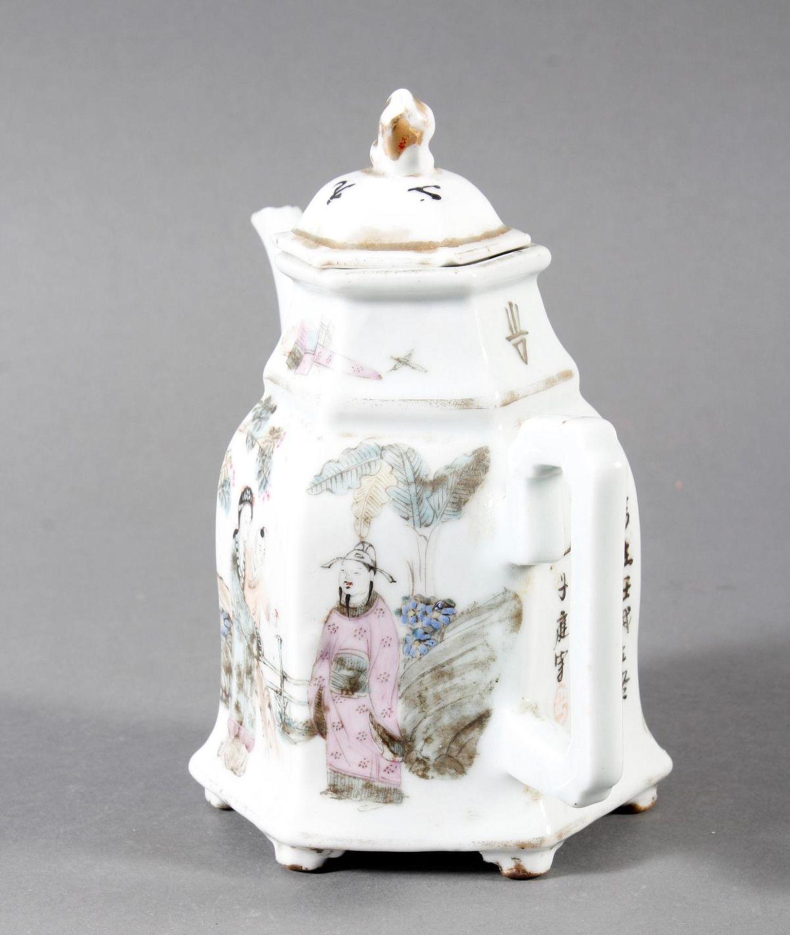 Porzellan Teekann, China, 19. Jahrhundert - Bild 4 aus 15