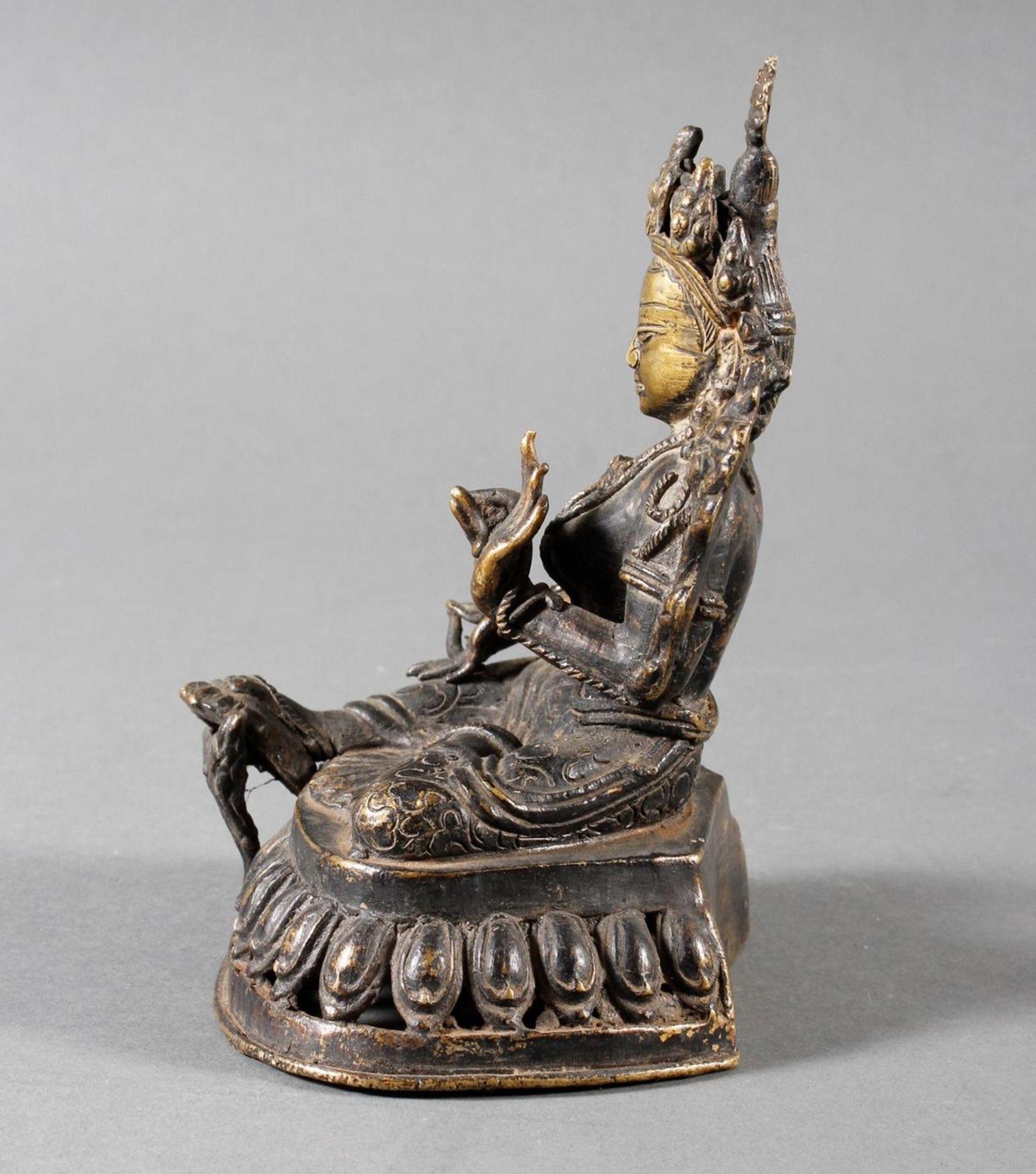 Bronze Buddha, Tara, Tibet, 18. / 19. Jahrhundert - Bild 4 aus 7