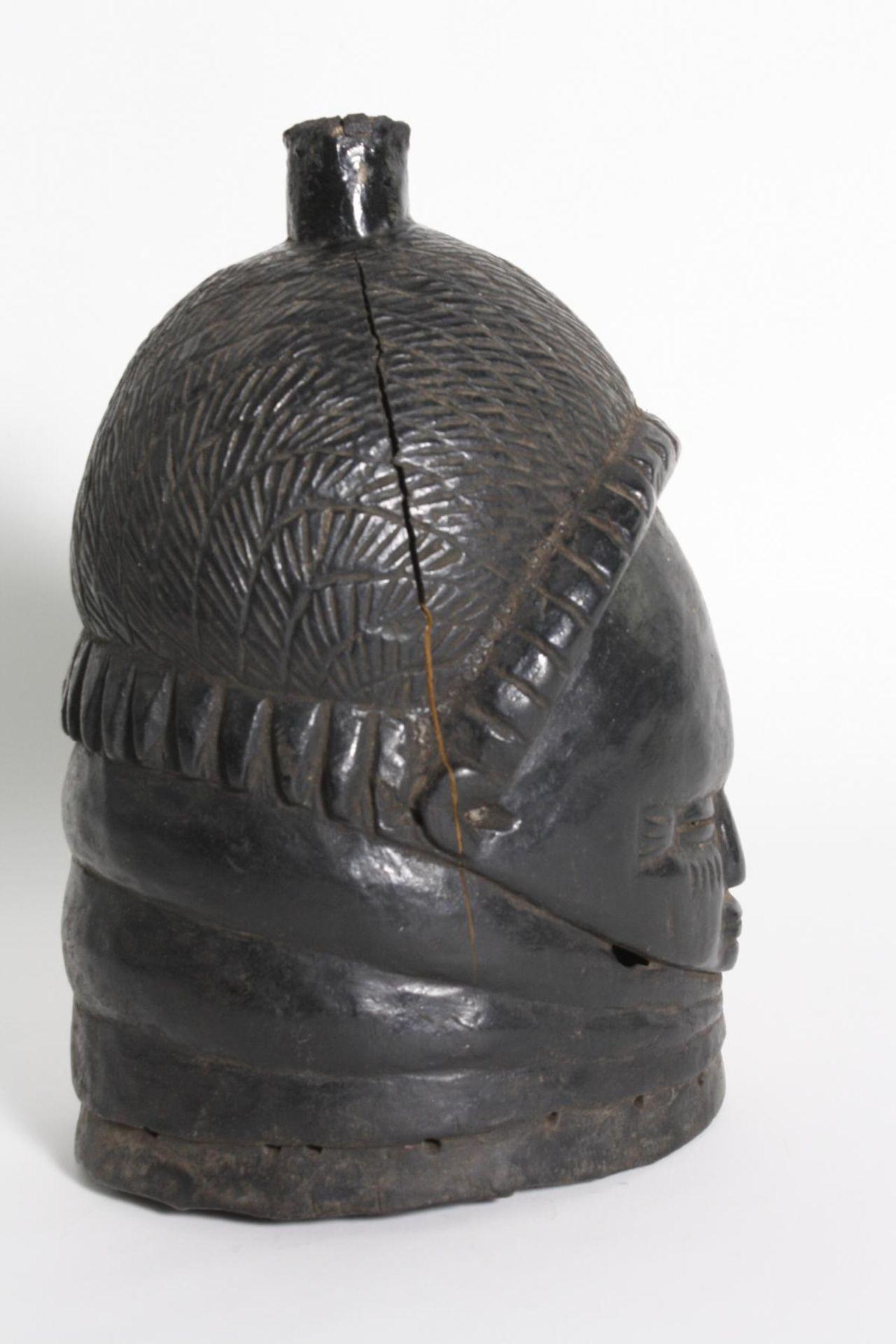 Sowei-Maske, Sandé-Gesellschaft, Mende, Sierra Leone, 1. Hälfte 20. Jh. - Bild 2 aus 4