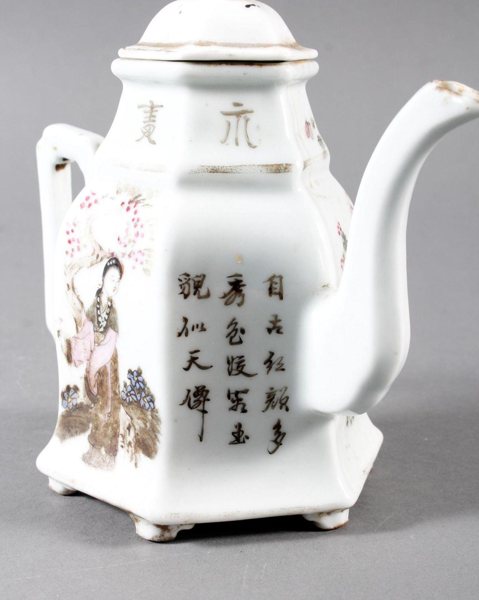 Porzellan Teekann, China, 19. Jahrhundert - Bild 9 aus 15